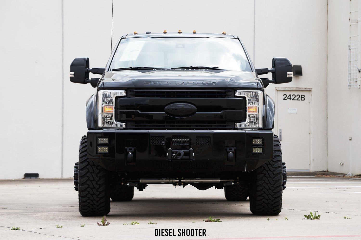 Ford F-450 with Custom Black Front Bumper - Photo by Diesel Shooter