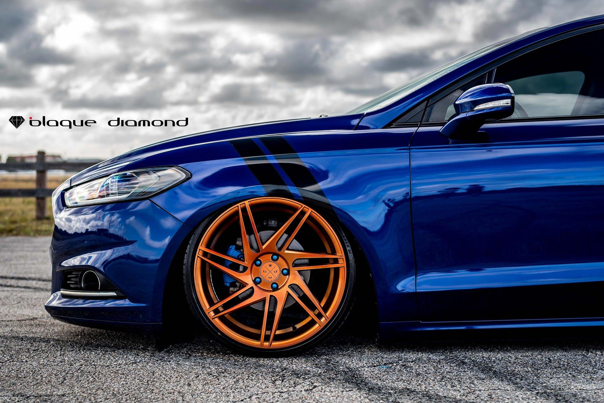 Slammed Ford Fusion on Insane Rims by Black Diamond — CARiD Gallery