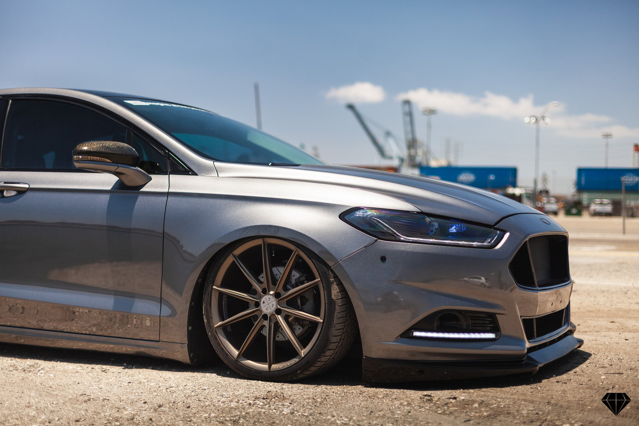 Carbon Fiber Side Mirrors On Silver Ford Fusion Photo By Blaque Diamond Wheels