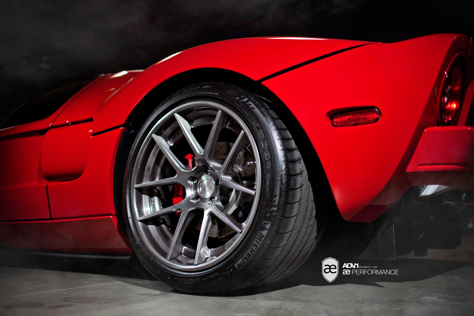 Red Ford Gt With Michelin Tires Photo By Adv