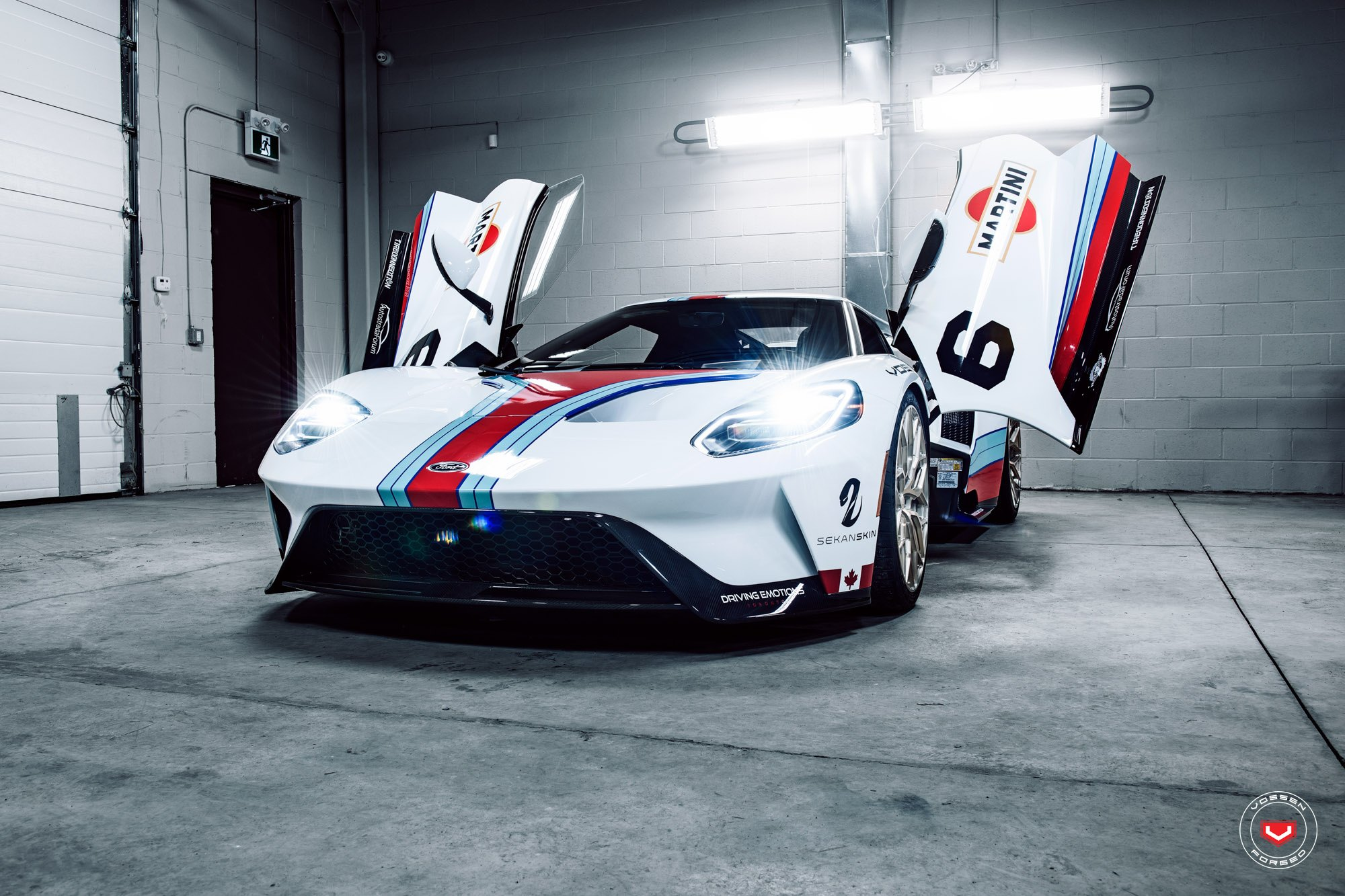 White Debadged Ford Gt With Vertical Doors Photo By Vossen