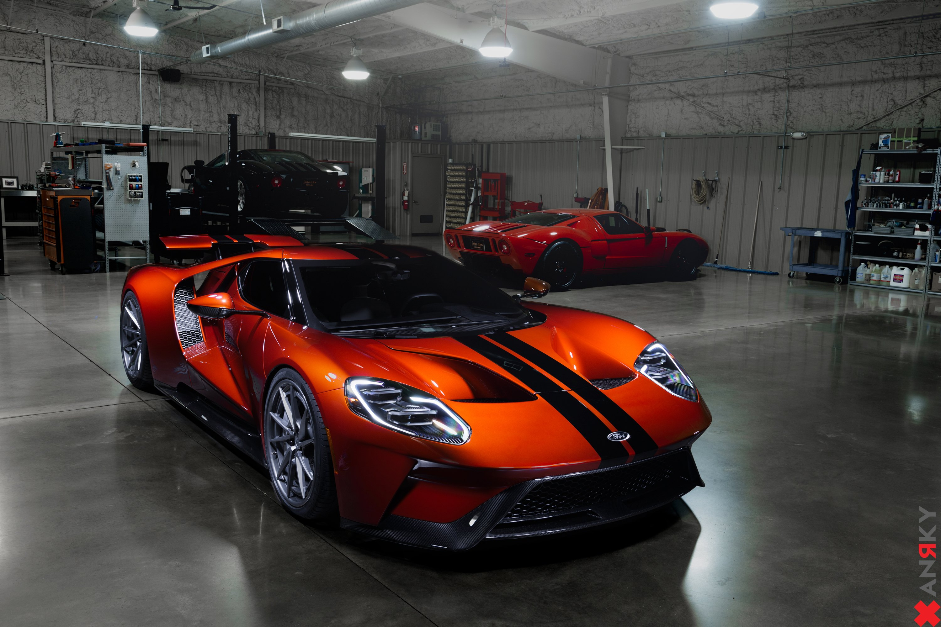 Orange Ford Gt With Carbon Fiber Front Bumper Photo By Anrky Wheels