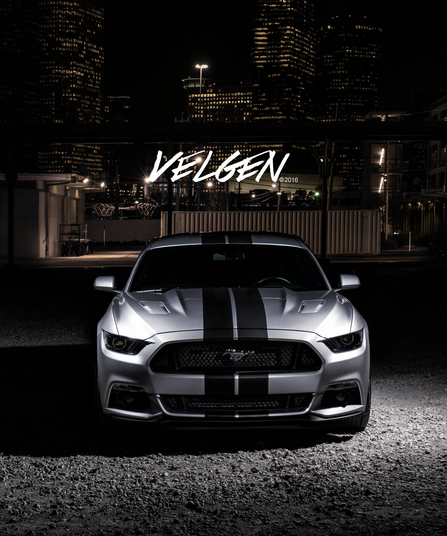Black Mustang Silvers: Silver Mustang With Black Stripes On Velgen Custom Rims