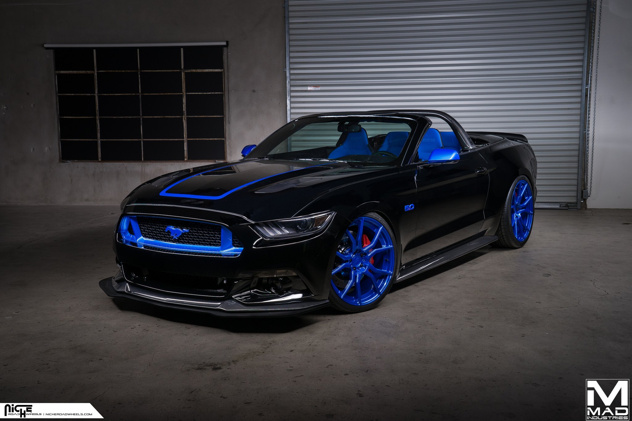 mustang blue and black. black and blue mustang s550 - photo by mad industries