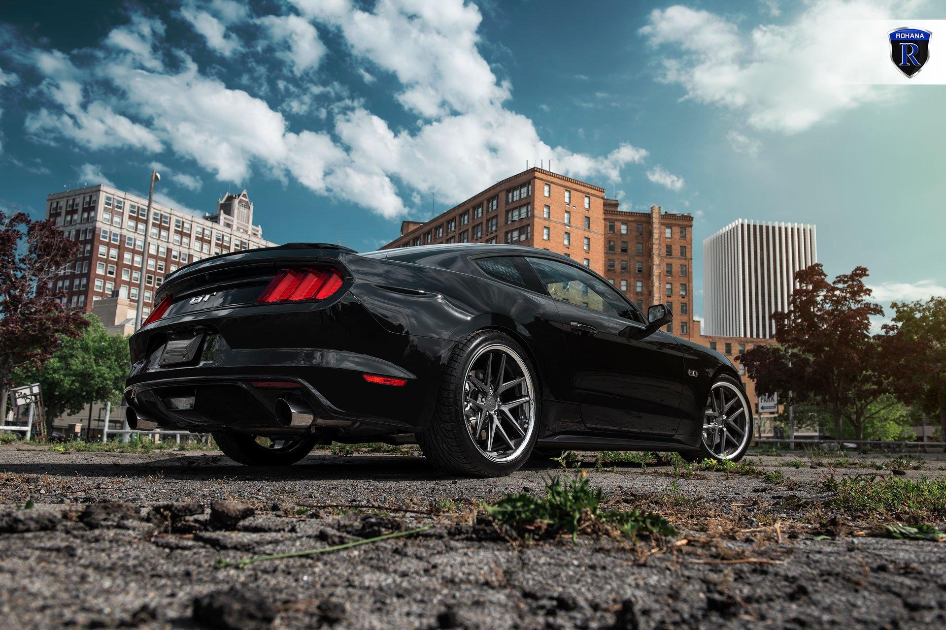 2015 Mustang Custom Wheels >> Rohana Rc9 Custom Wheels On A Black Ford Mustang Gt Carid