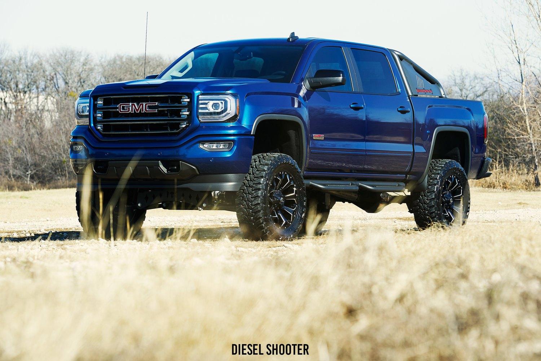 Blue Gmc Truck >> Royal Blue Gmc Sierra On Fuel Off Road Wheels Carid Com Gallery