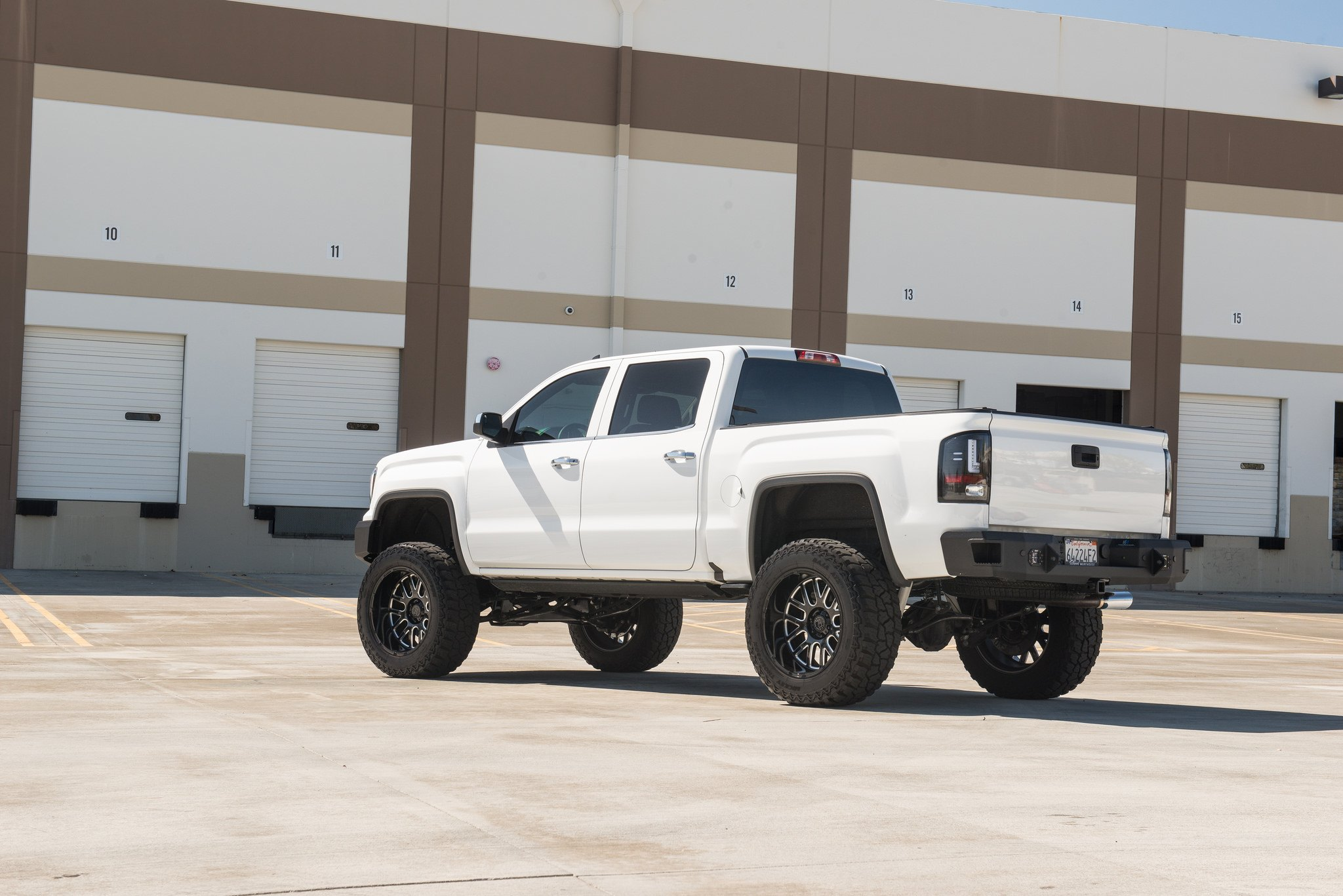 The Higher The Truck The Closer To God White Lifted Gmc Sierra