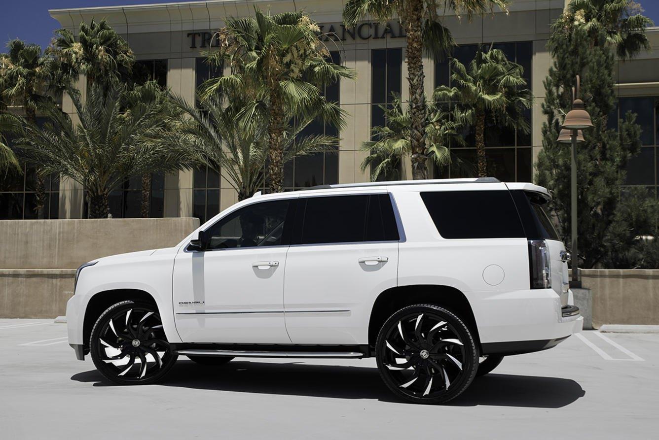 White Gmc Yukon On Contrasting Multispoke Lexani Wheels Carid Com Gallery