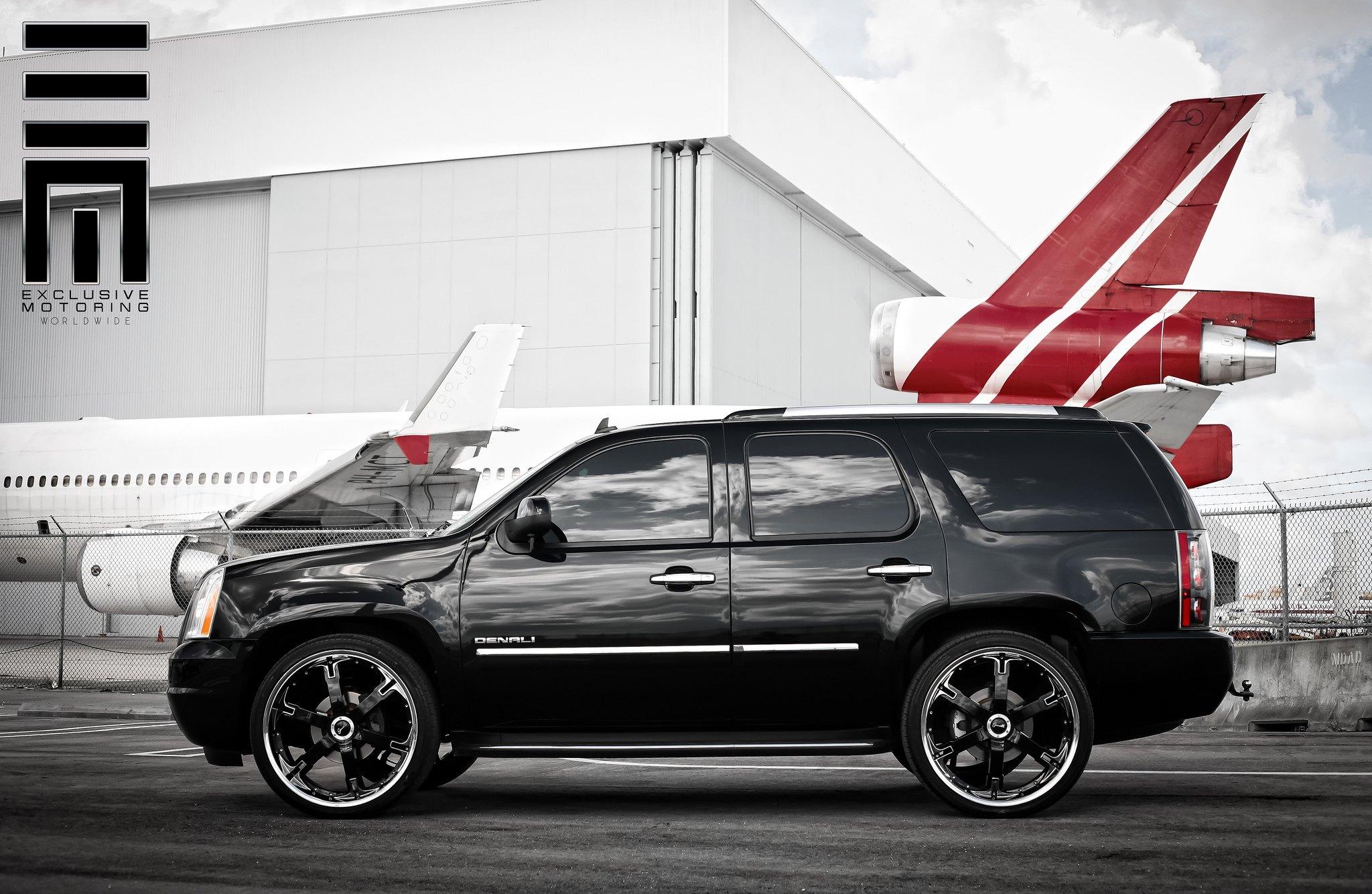 Gmc Yukon Denali On Black Custom Wheels By Exclusive Motoring