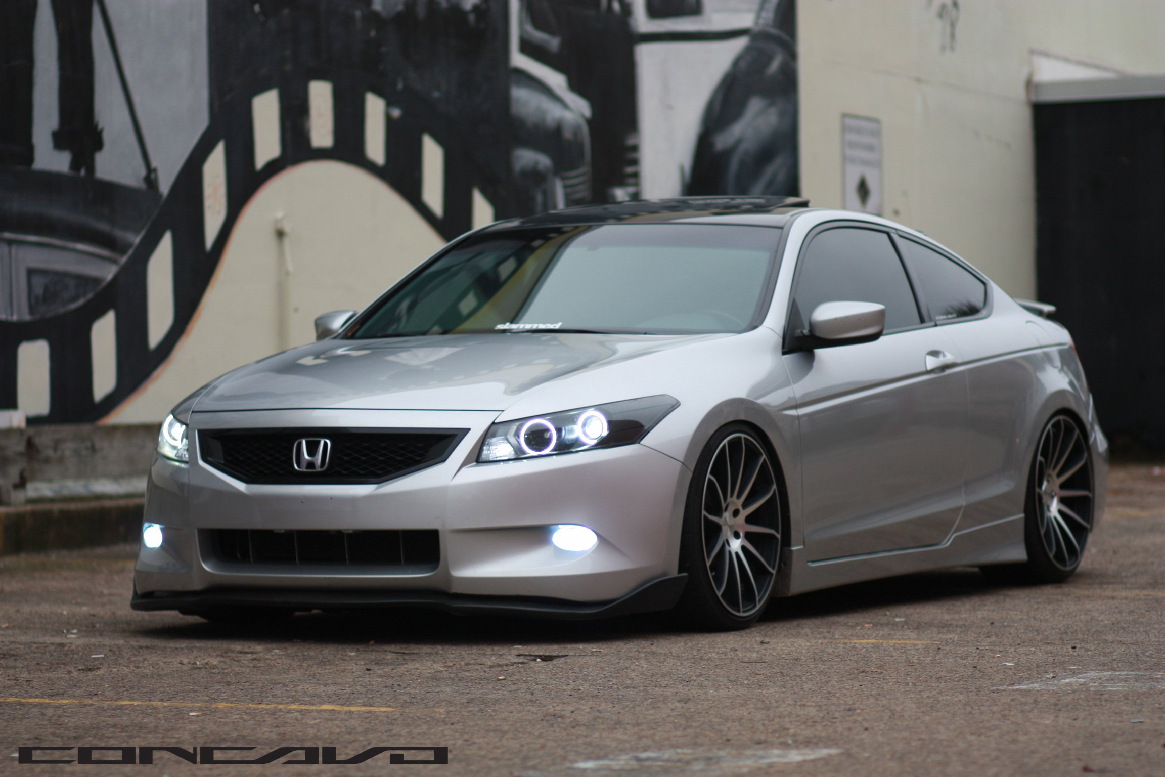 Stanced Honda Accord Coupe Boasting Custom Led Lights And Rims Carid Com Gallery