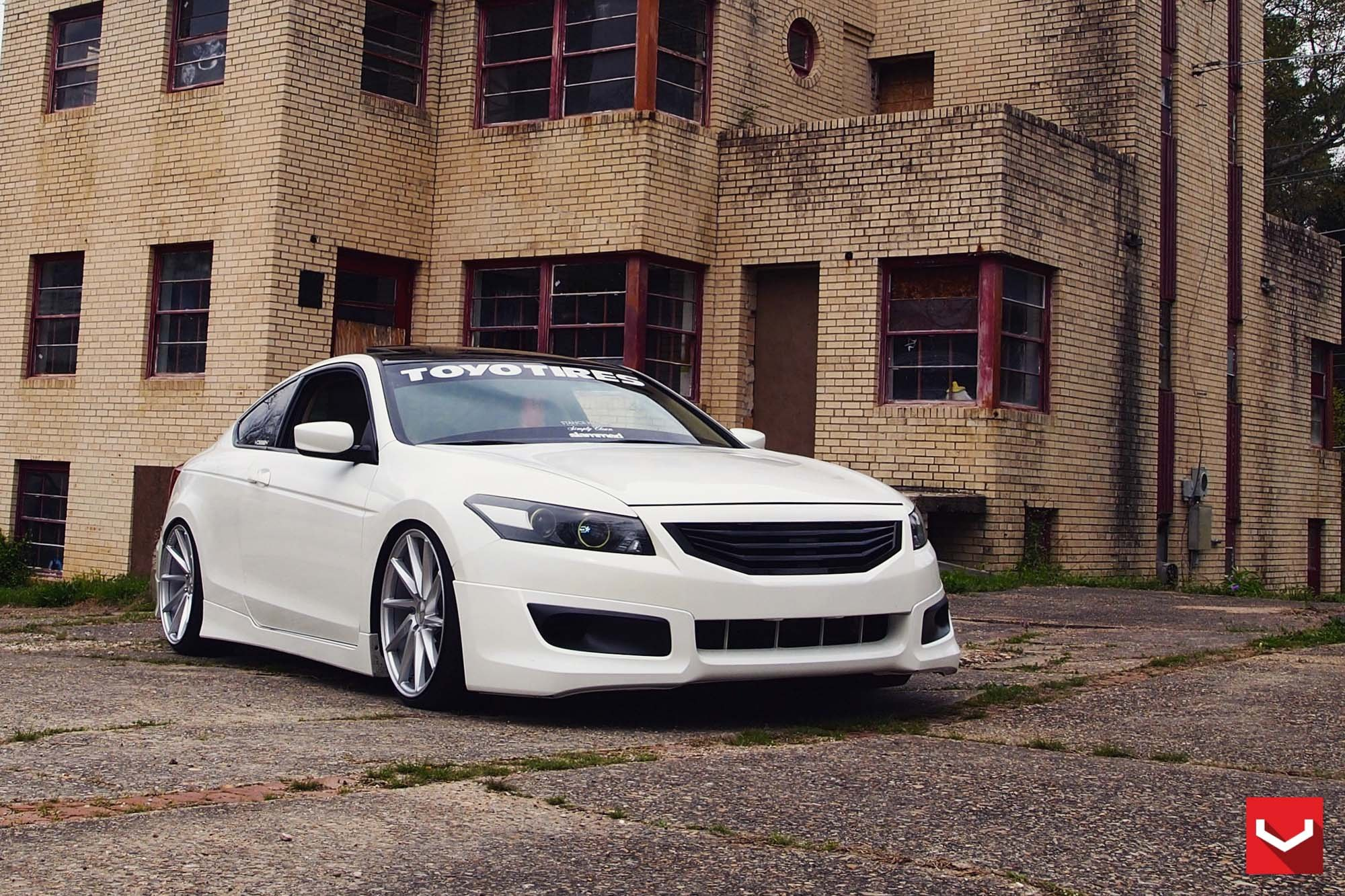 Good Custom White Honda Accord With Blacked Out Grille   Photo By Vossen
