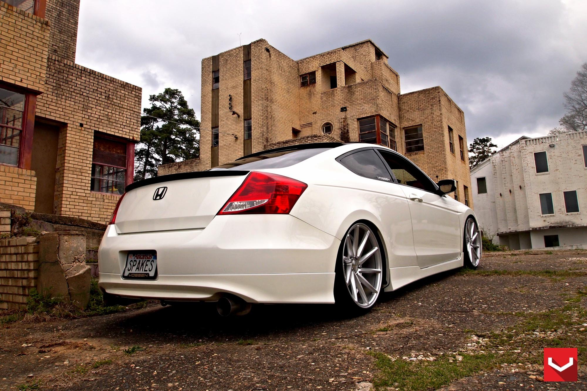 White Honda Accord Spruced Up With Blacked Out Custom