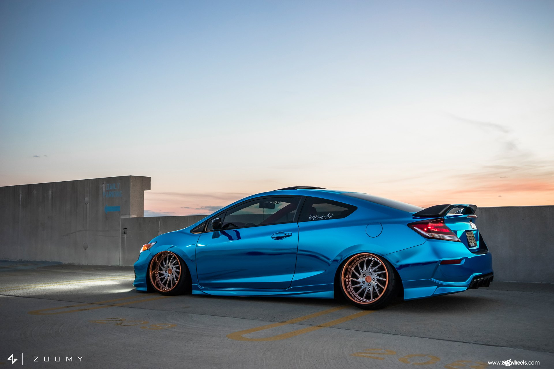 exciting makeover of blue honda civic si with fashionable accessories gallery. Black Bedroom Furniture Sets. Home Design Ideas