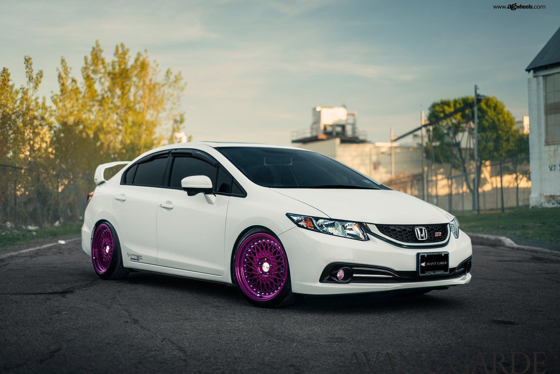 Honda civic si white slammed trendy burgundy lion jon for Cool honda civic