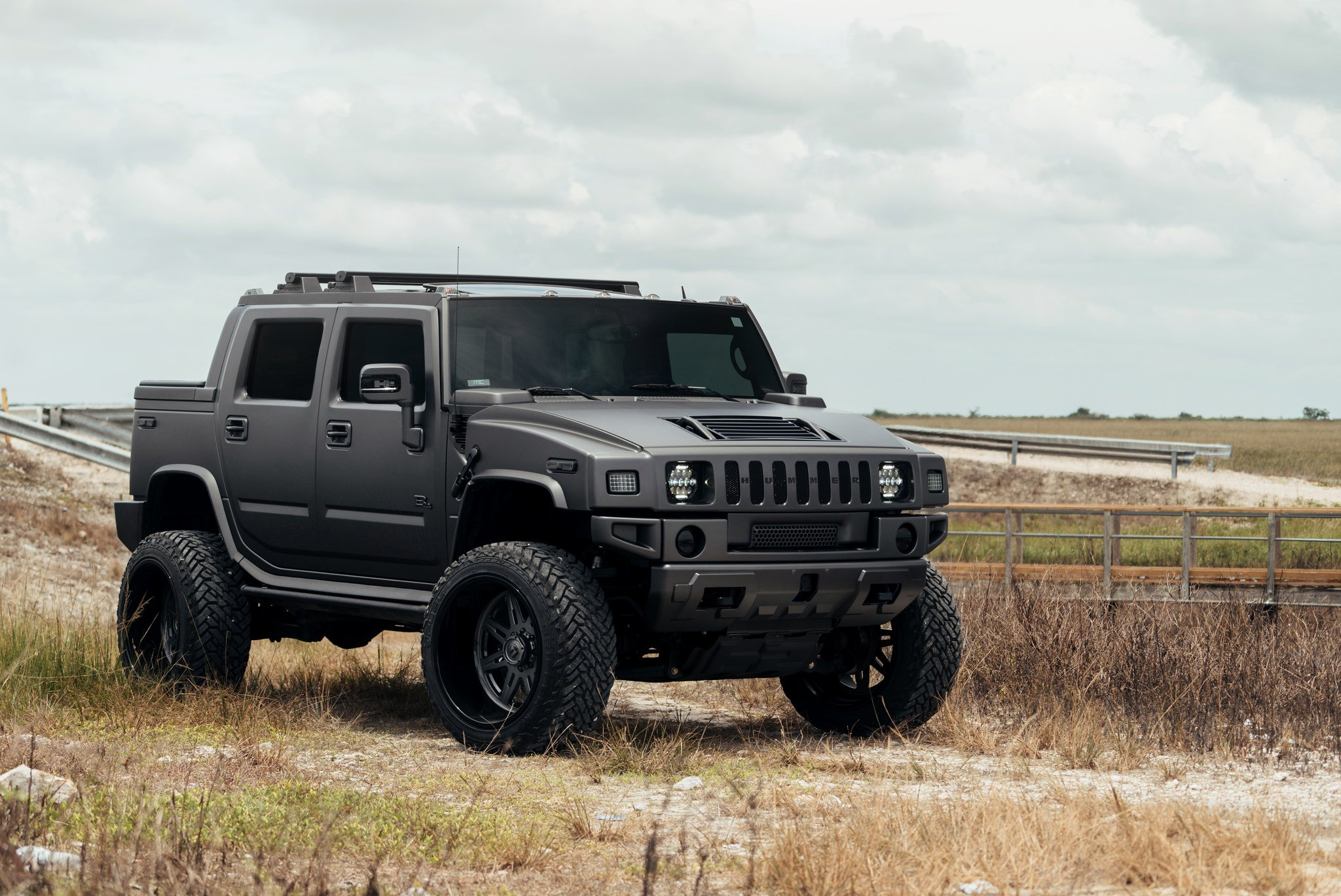 mean looking hummer h2 sut with a lift and fuel off road wheels gallery. Black Bedroom Furniture Sets. Home Design Ideas