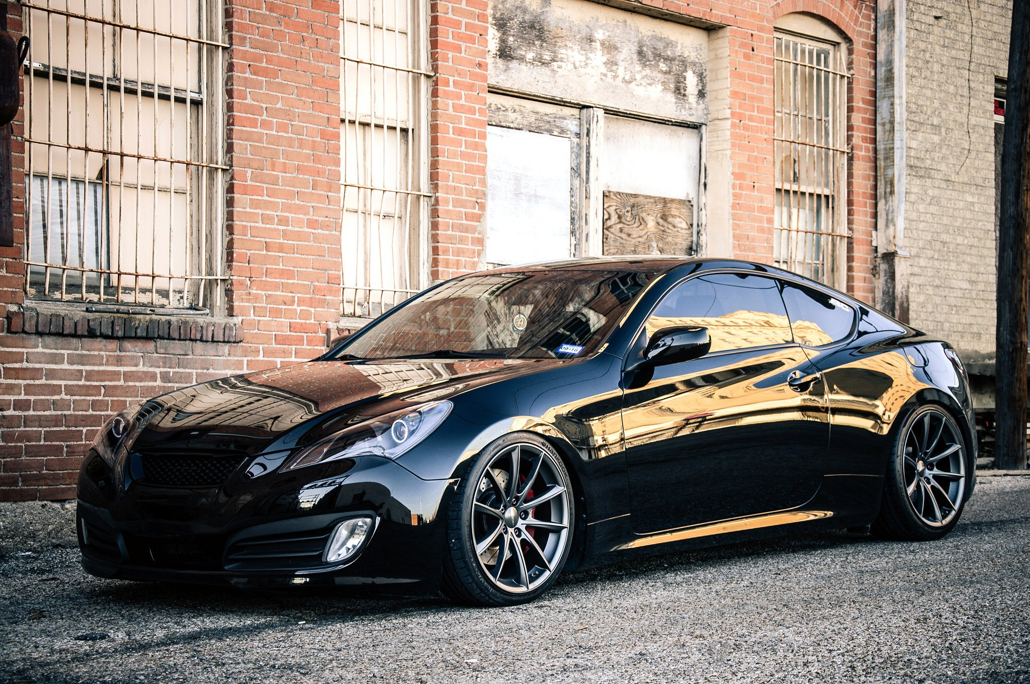 Stanced Hyundai Genesis Coupe On Ace Alloy Wheels Photo By