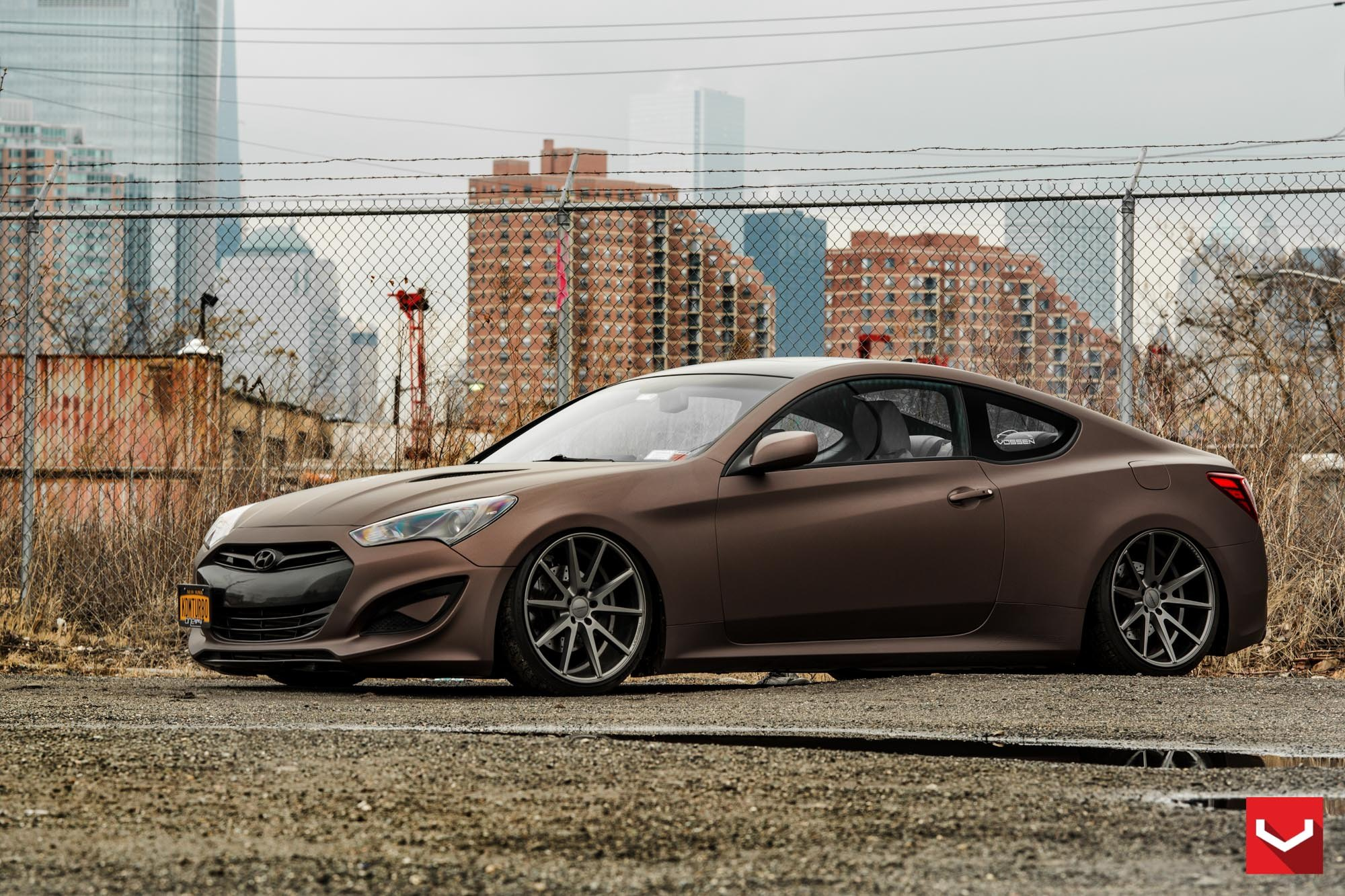 matte copper metallic hyundai genesis coupe customized to. Black Bedroom Furniture Sets. Home Design Ideas