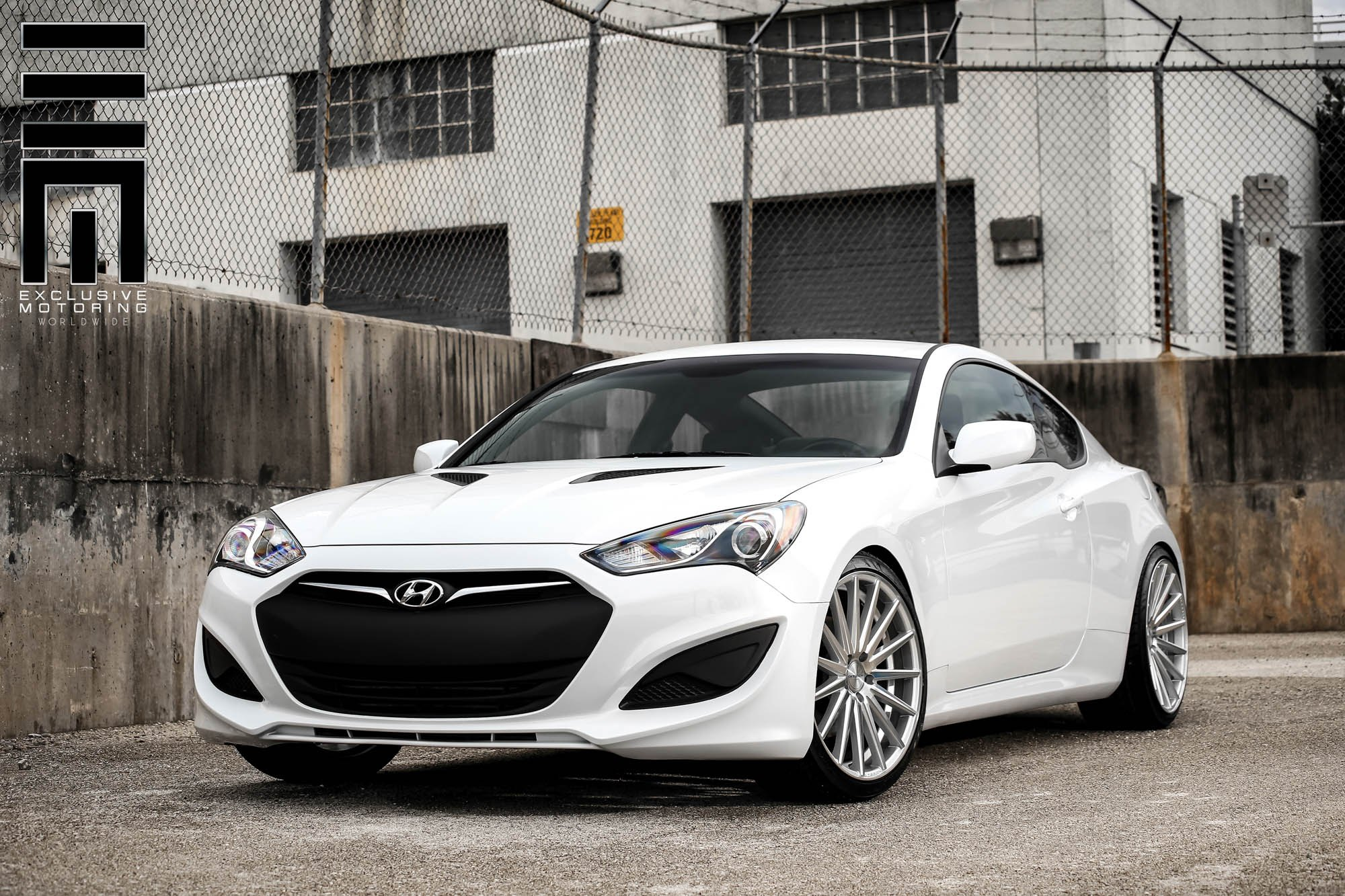 aftermarket rear diffuser on matte hyundai genesis coupe. Black Bedroom Furniture Sets. Home Design Ideas