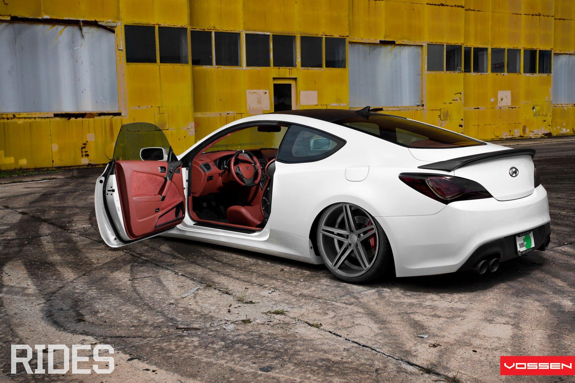 Aftermarket Interior Kit In White Hyundai Genesis Coupe   Photo By Vossen