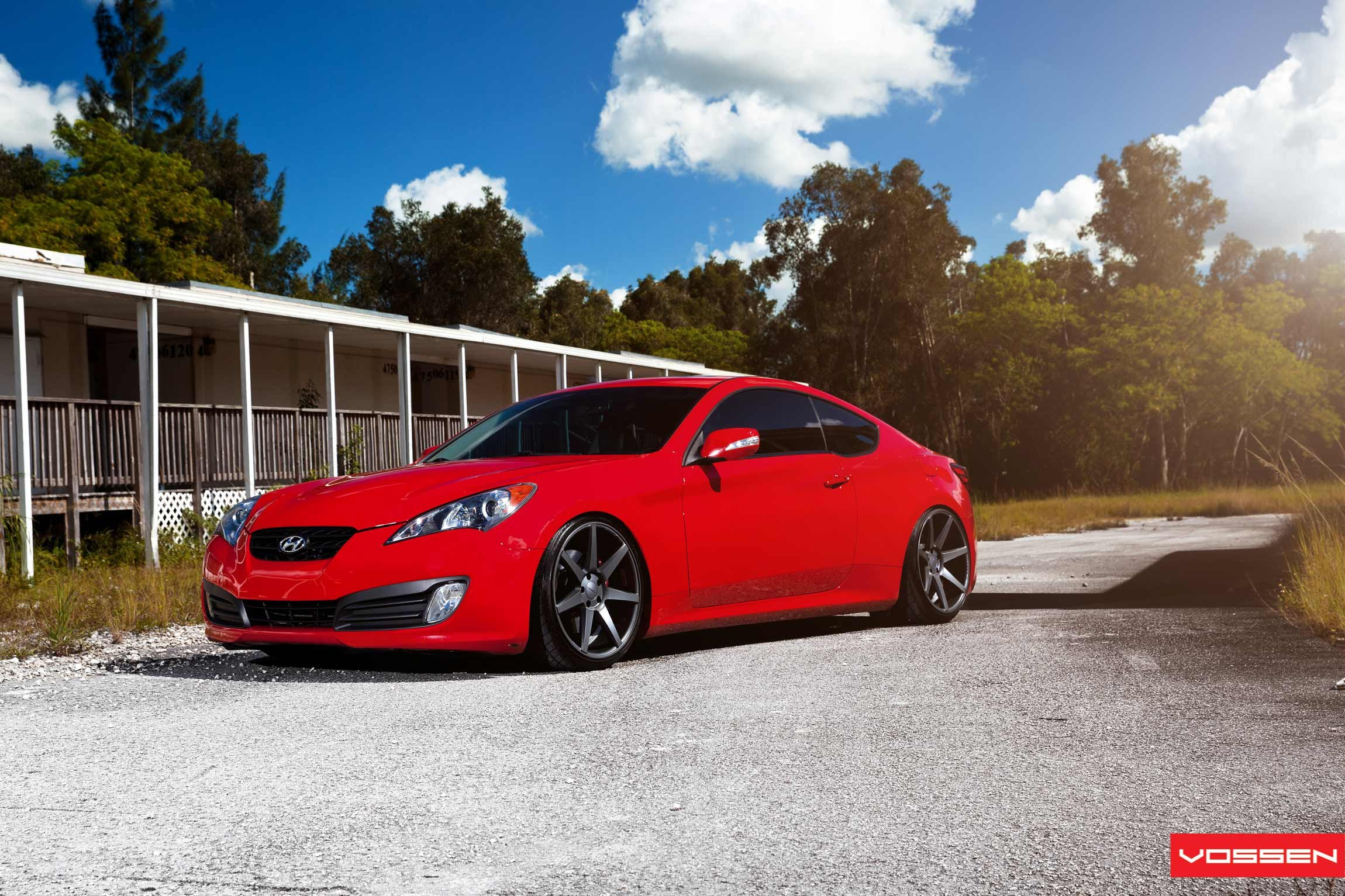 enhanced lighting for custom red hyundai genesis coupe. Black Bedroom Furniture Sets. Home Design Ideas