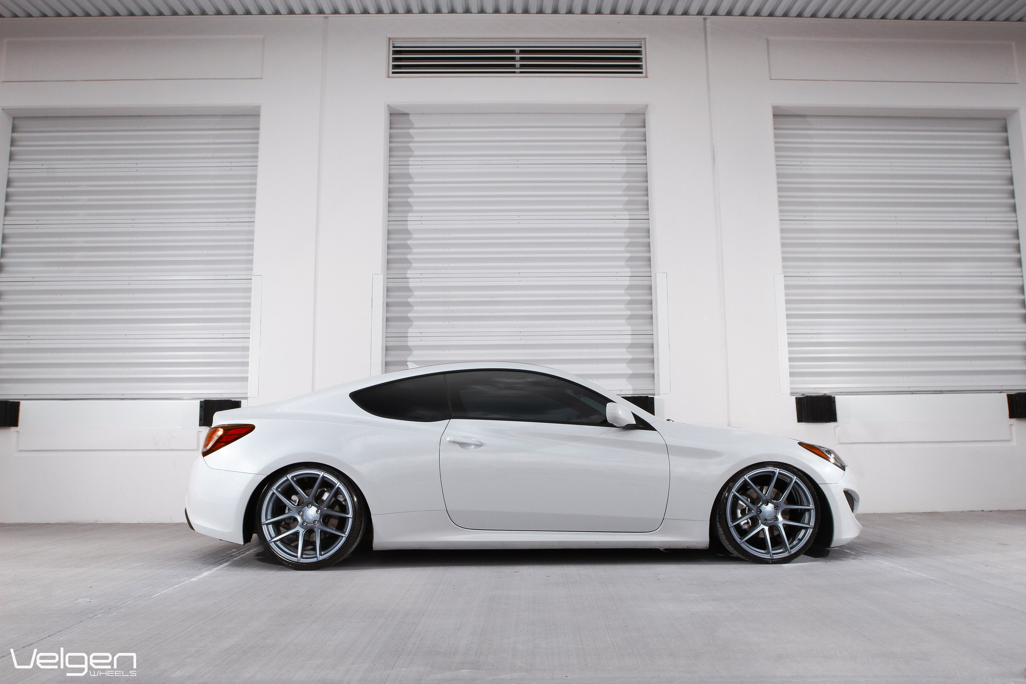 Gunmetal Velgen Rims On White Hyundai Genesis Coupe   Photo By Vossen