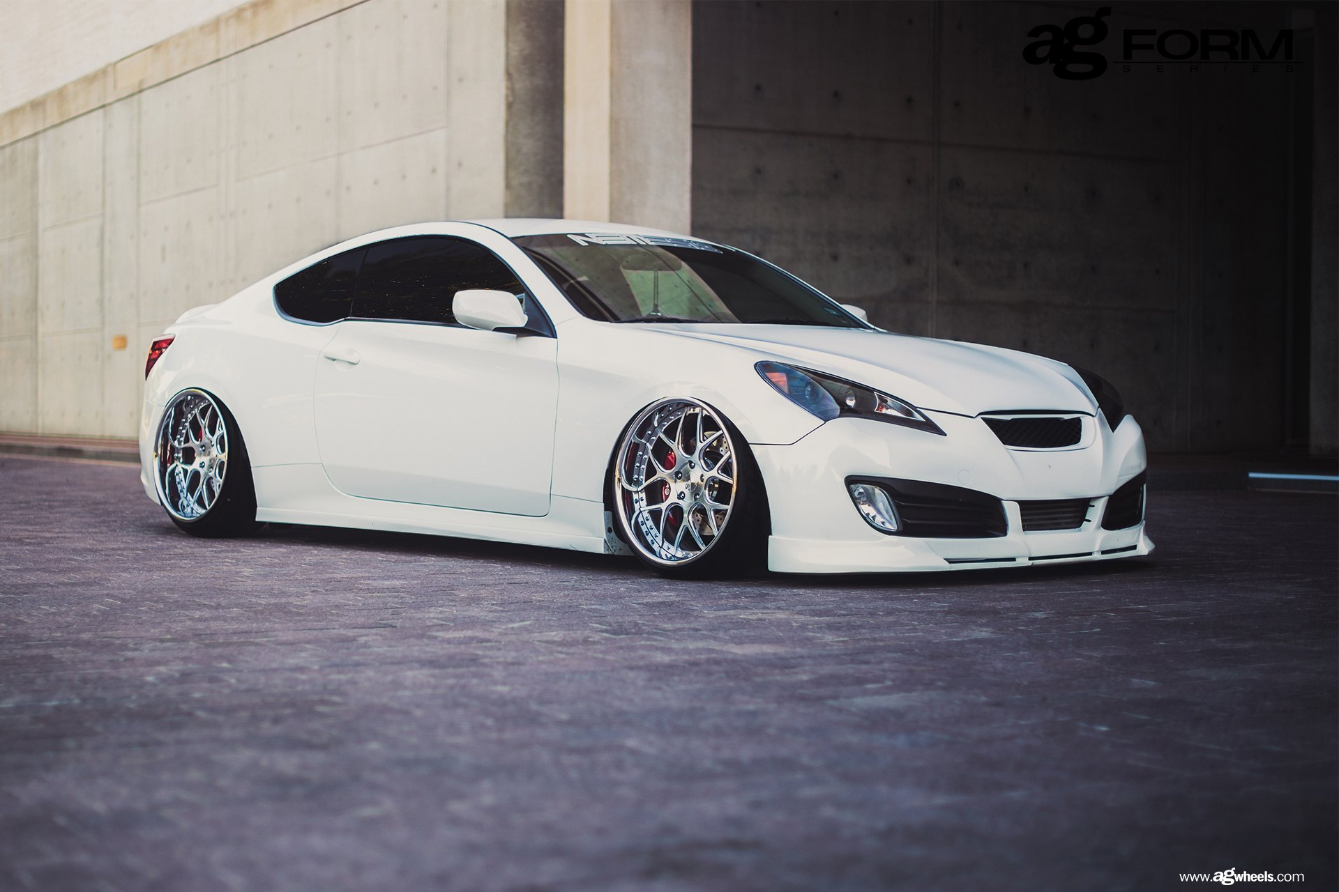 slammed hyundai genesis coupe on forged avant garde f110. Black Bedroom Furniture Sets. Home Design Ideas