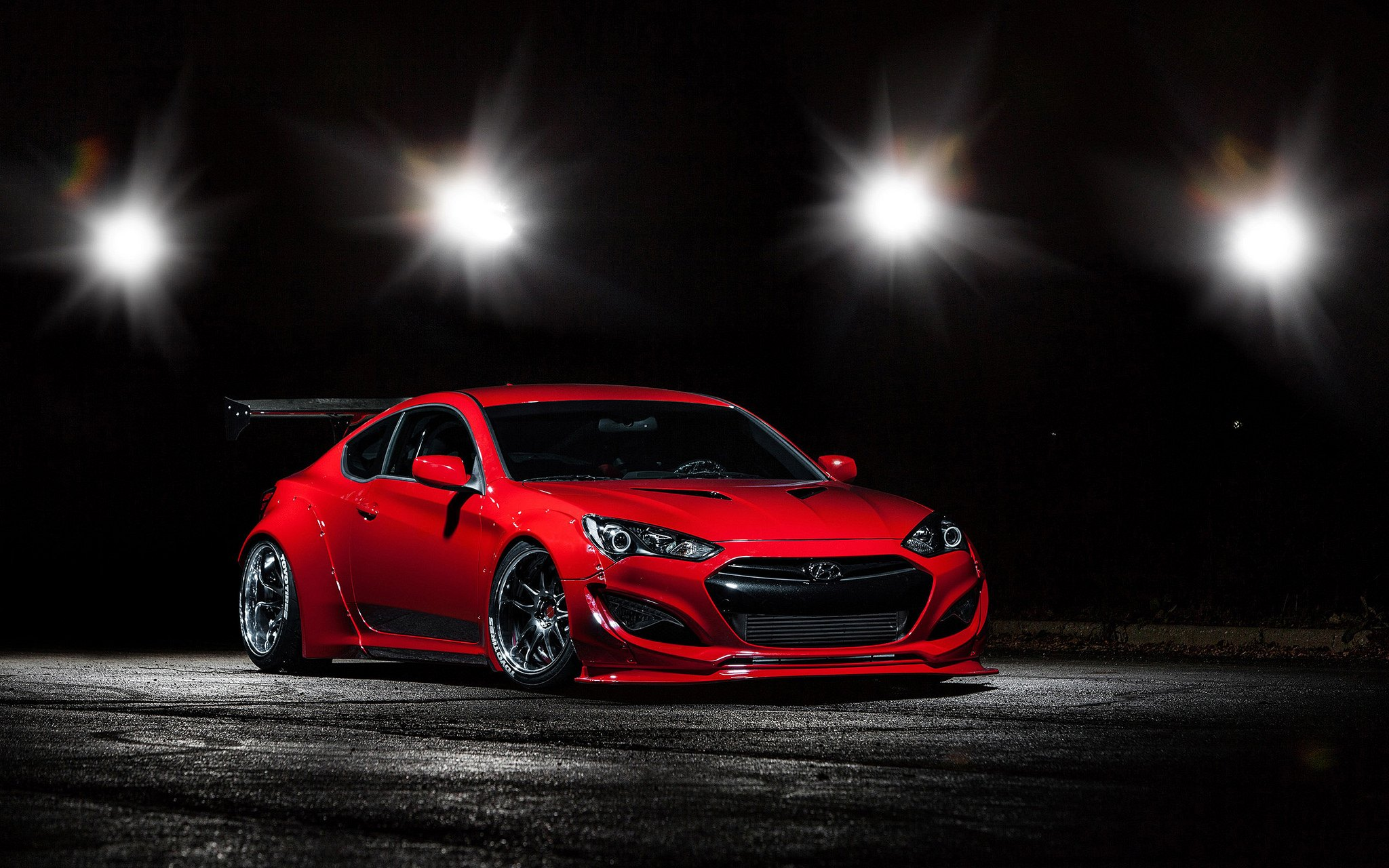 One Sick Red Hyundai Genesis Coupe with Custom Parts ...
