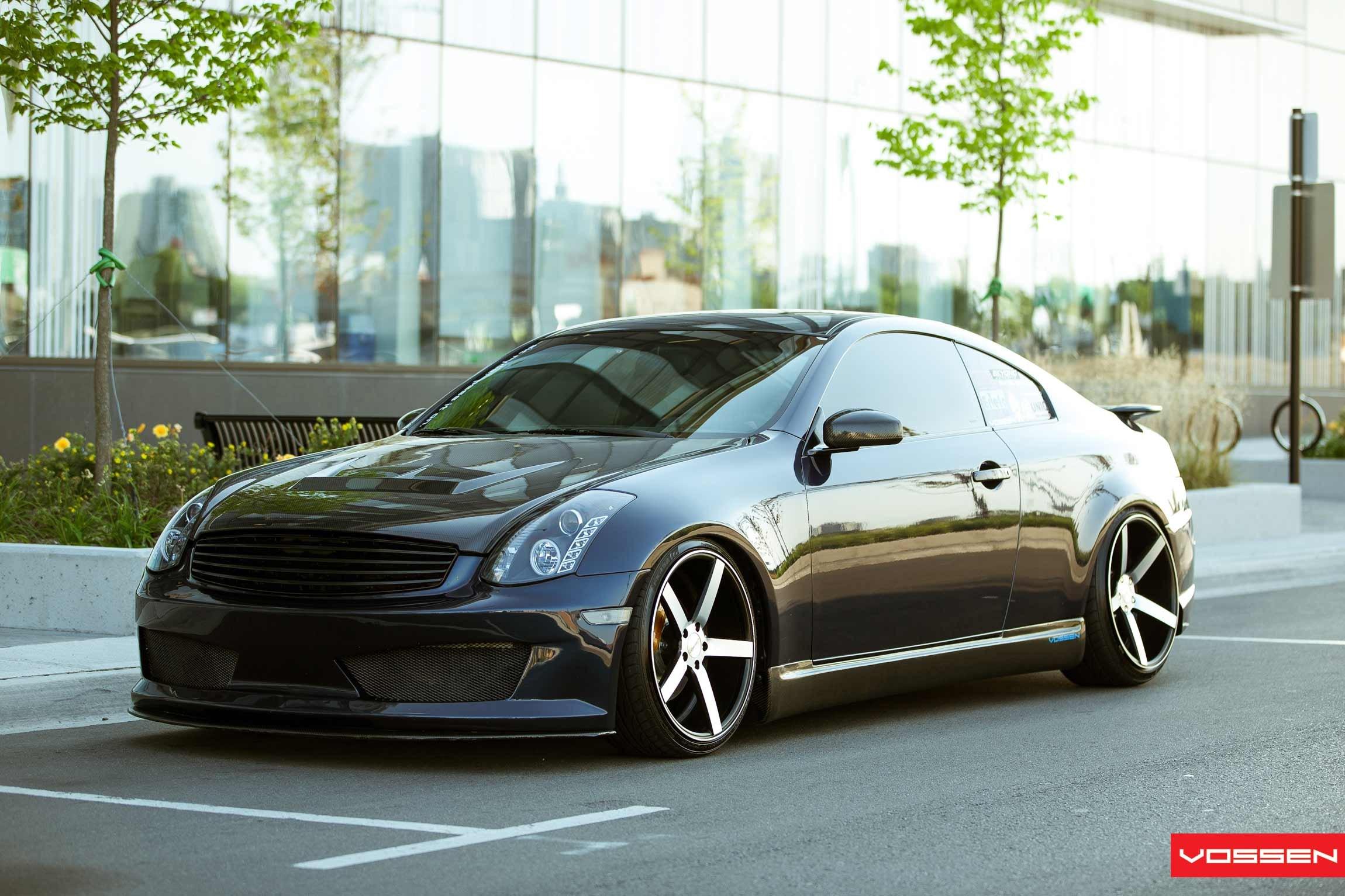 Infiniti G35 Custom >> Black Infiniti G35 Gets Carbon Fiber Treatment And Vossen Wheels