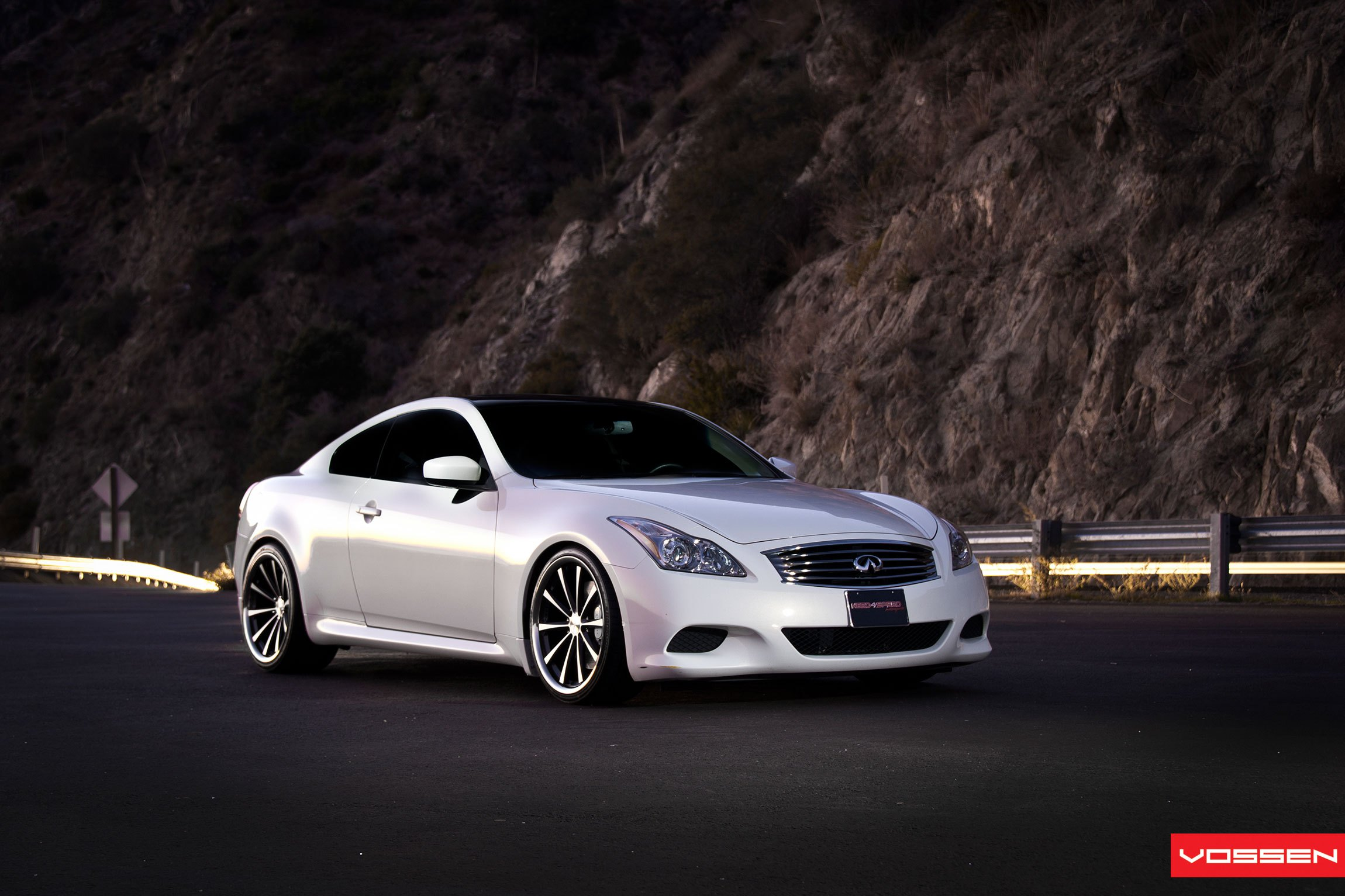 Pearl White Infiniti G37 Boasting Forged Rims By Vossen