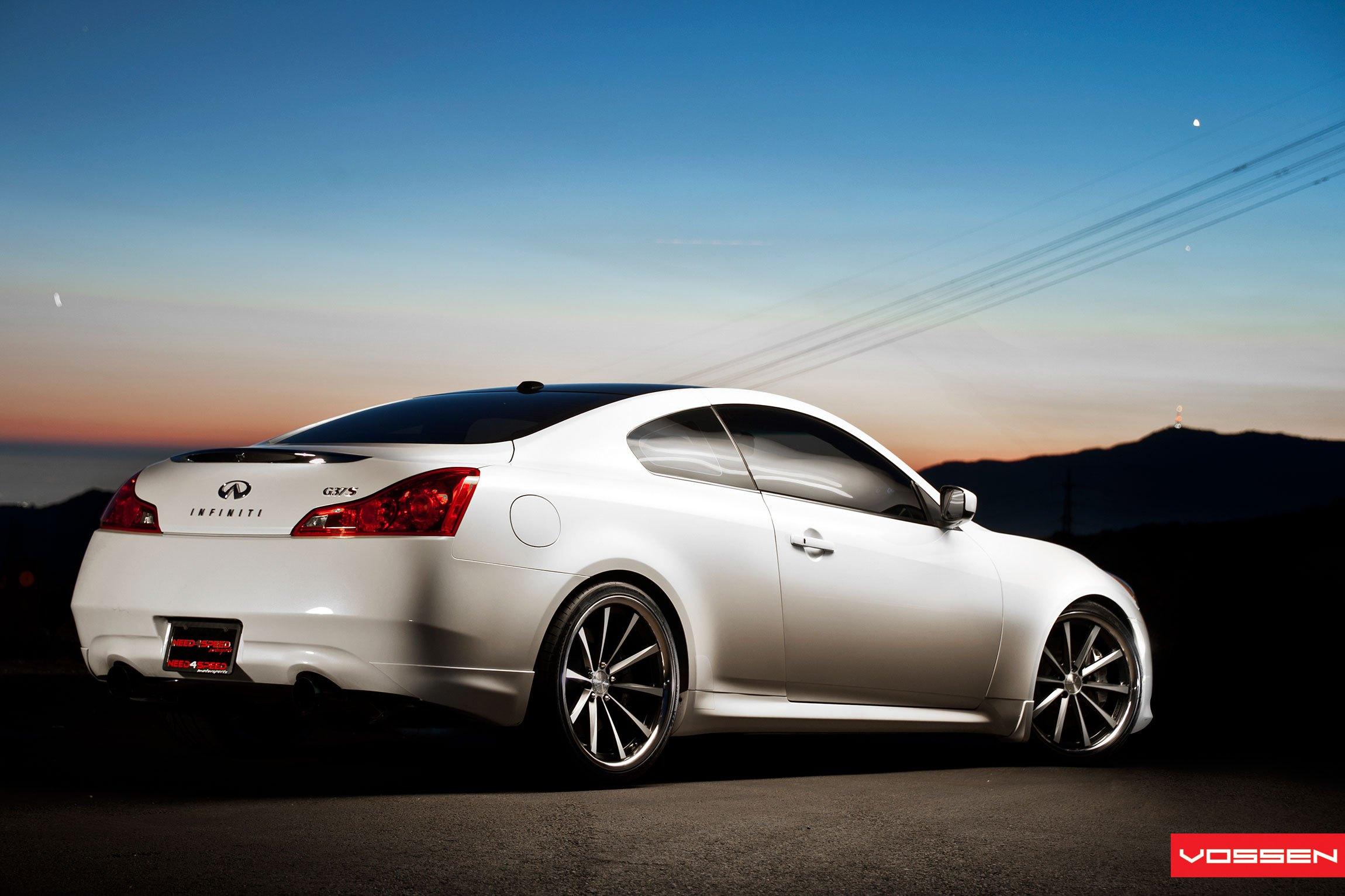 Pearl White Infiniti G37 Boasting Forged Rims By Vossen Back Bumper Custom Rear On S Photo