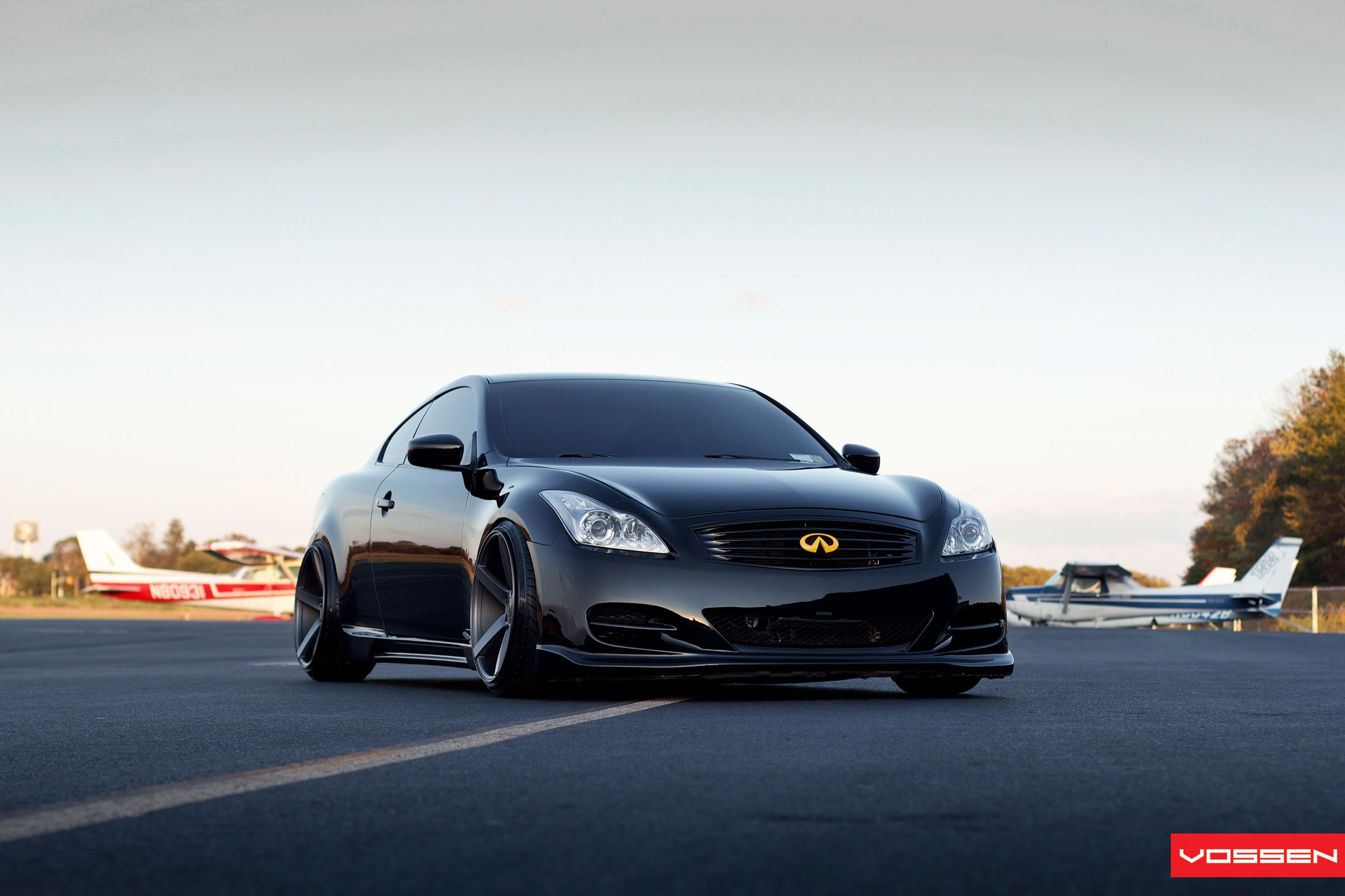 Stunning Blacked Out Infiniti G37 Coupe With Deep Concave Vossen Rims Carid Com Gallery