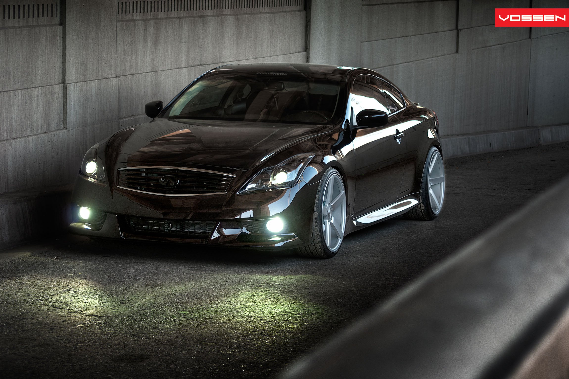 Stanced Out Infiniti G37 Coupe Sitting Low On Custom Wheels Carid Com Gallery