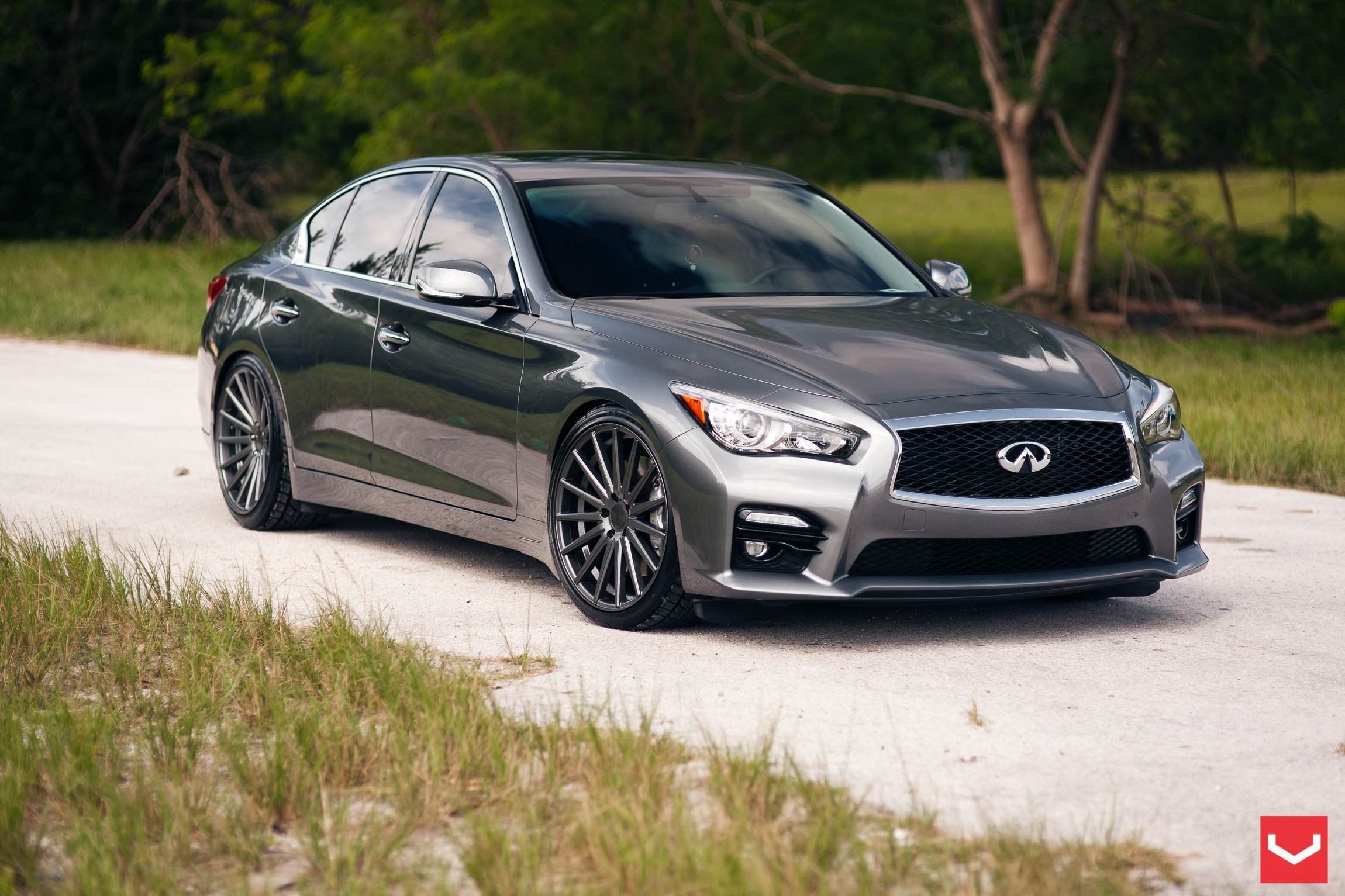 Not Your Regular Infiniti Q50 Metallic Color Ride Gets Custom Parts