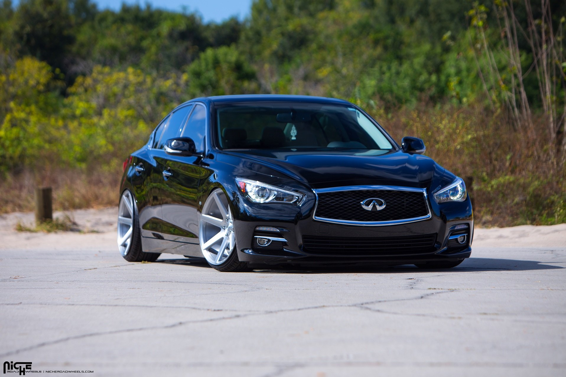 Stanced Infiniti Q50 Enhanced With Air Suspension And Niche Rims