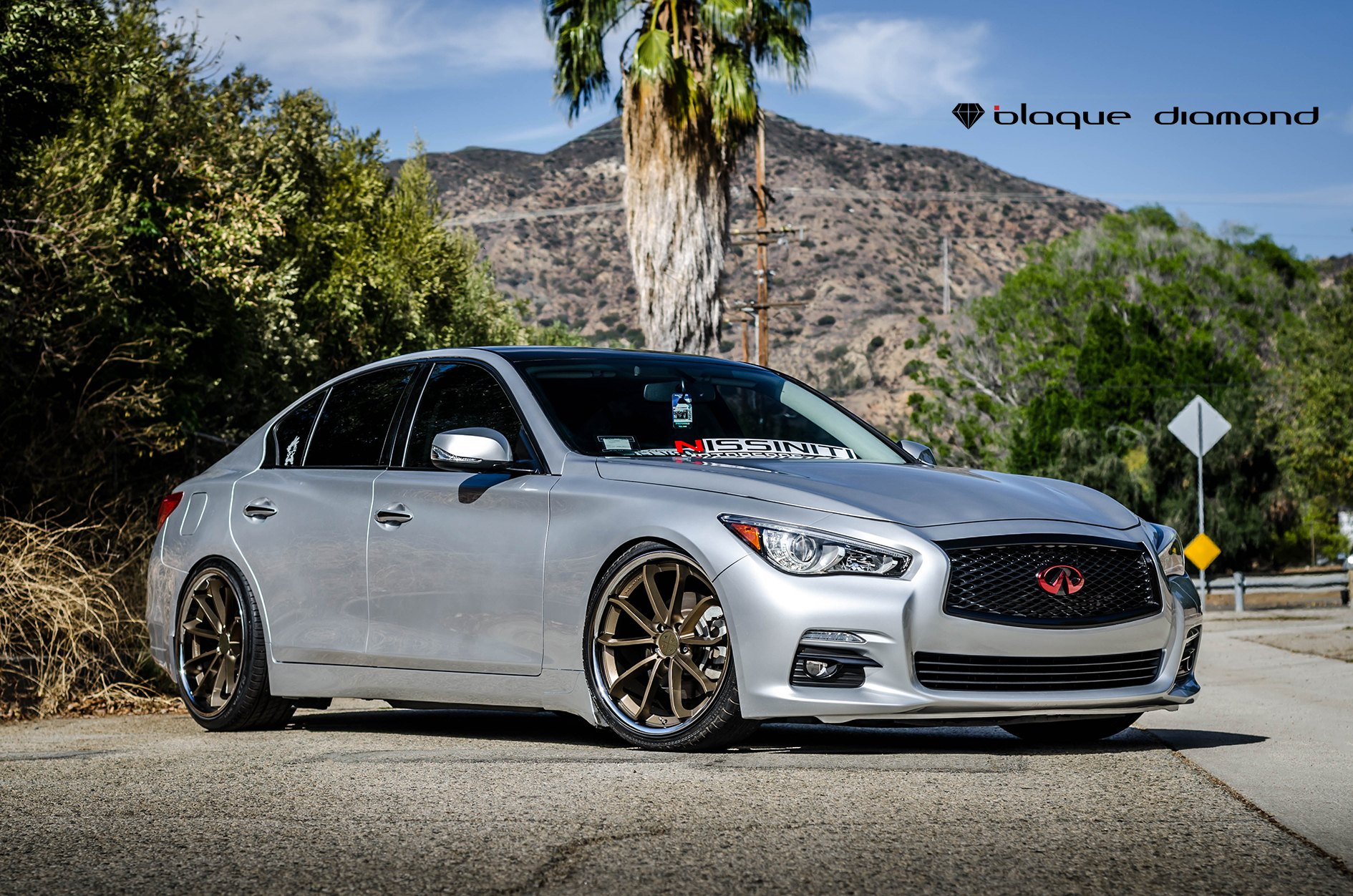 Q50 For Sale >> Exclusive Face of Silver Infiniti Q50 with Custom Grille and Emblem — CARiD.com Gallery