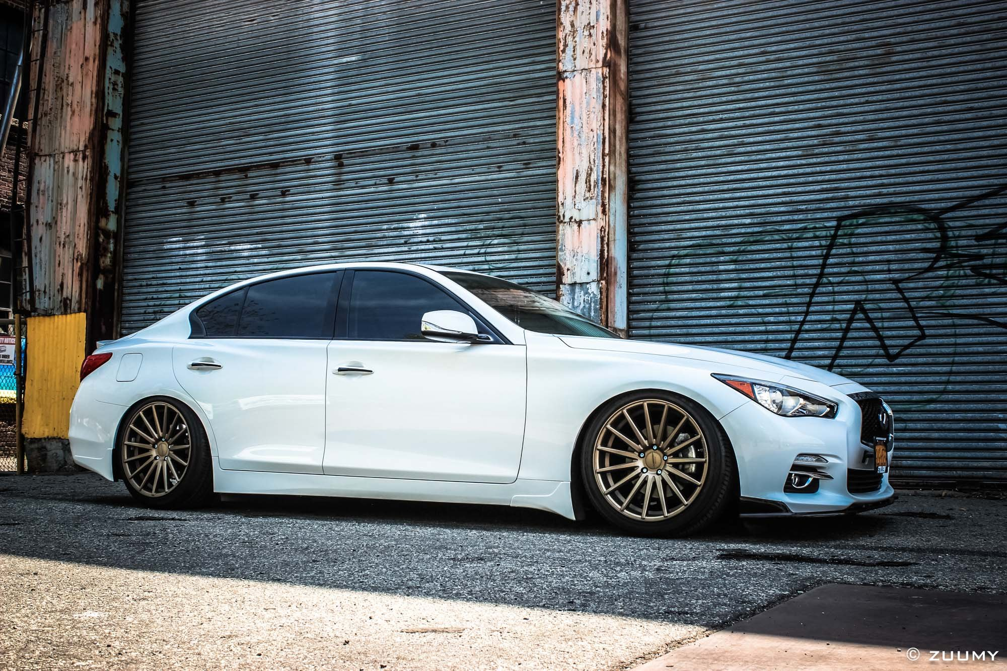 The Exquisite Car Enthusiast s Choice Custom White Lowered Infiniti