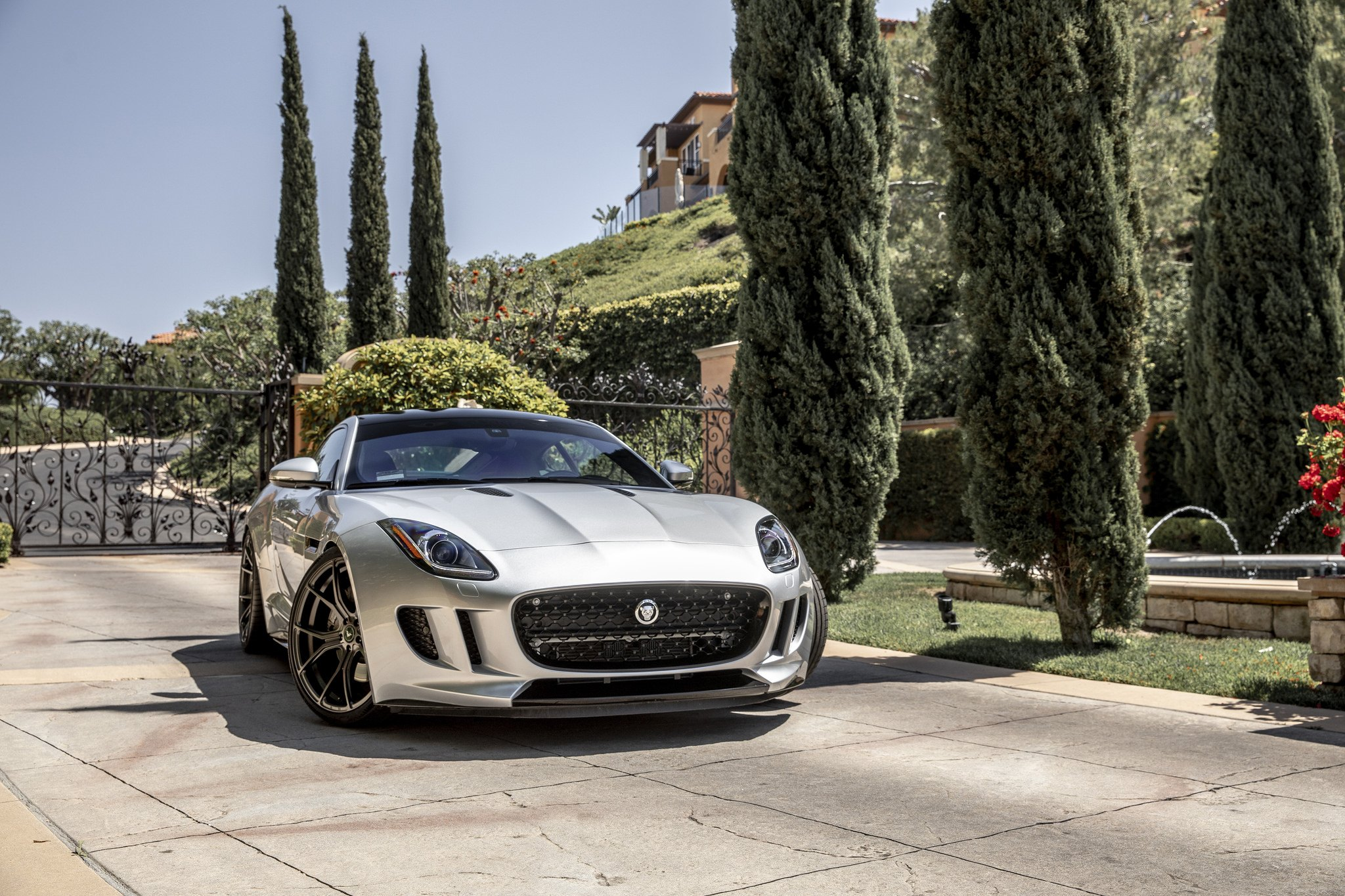 Silver Jaguar F Type Highlighted By Distinctive Aftermarket Body