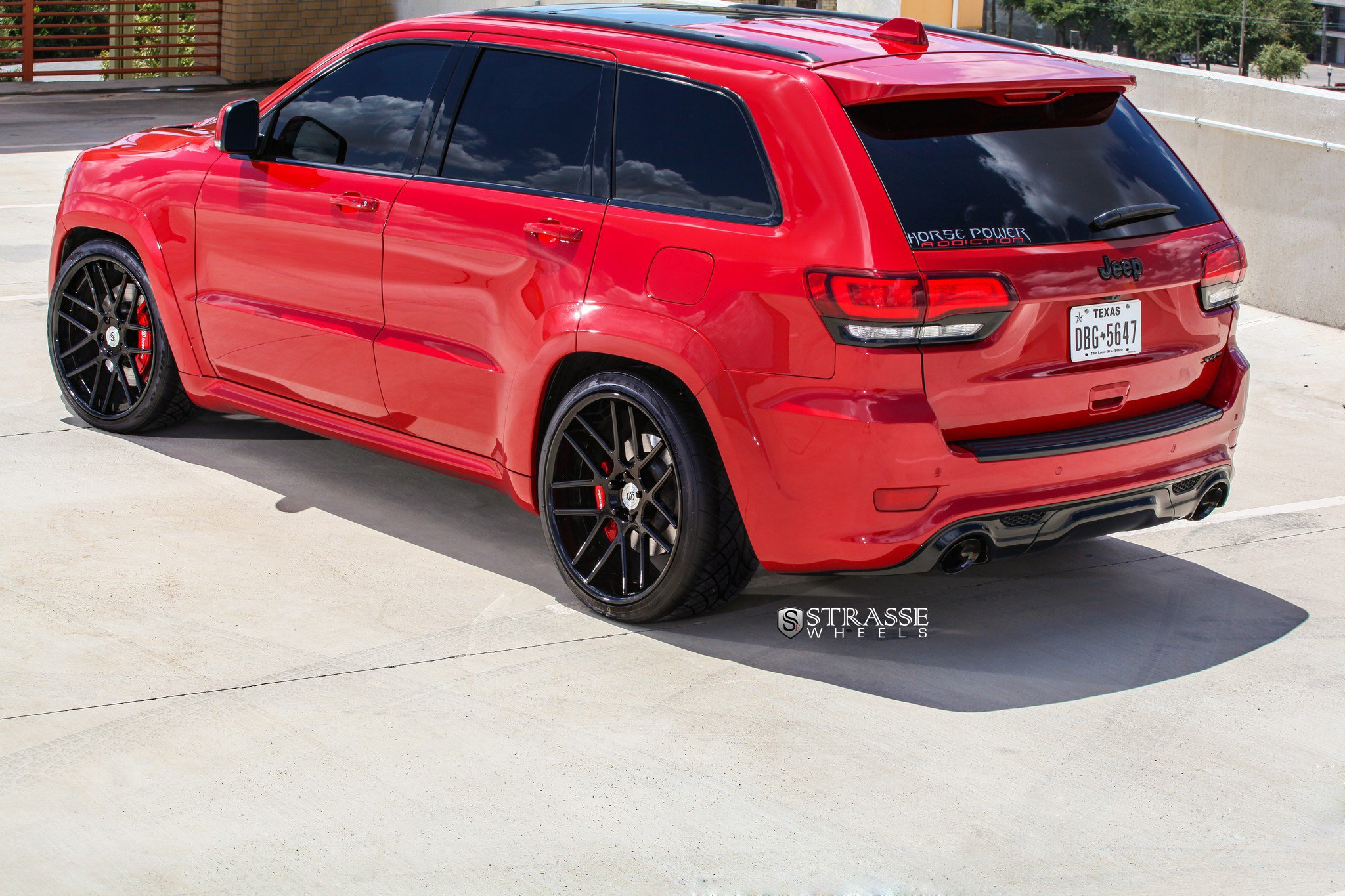Custom Red Jeep Grand Cherokee SRT Rear Diffuser   Photo By Strasse Forged