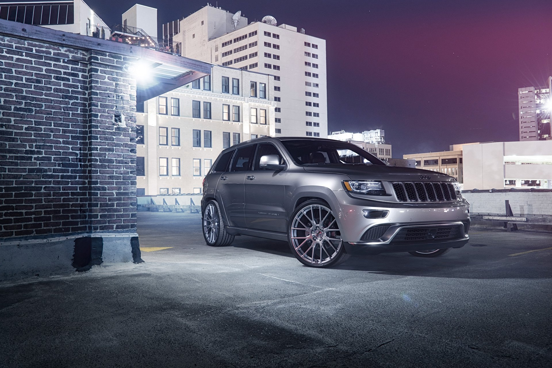 Gray Jeep Grand Cherokee With Aftermarket Front Bumper   Photo By Forgiato