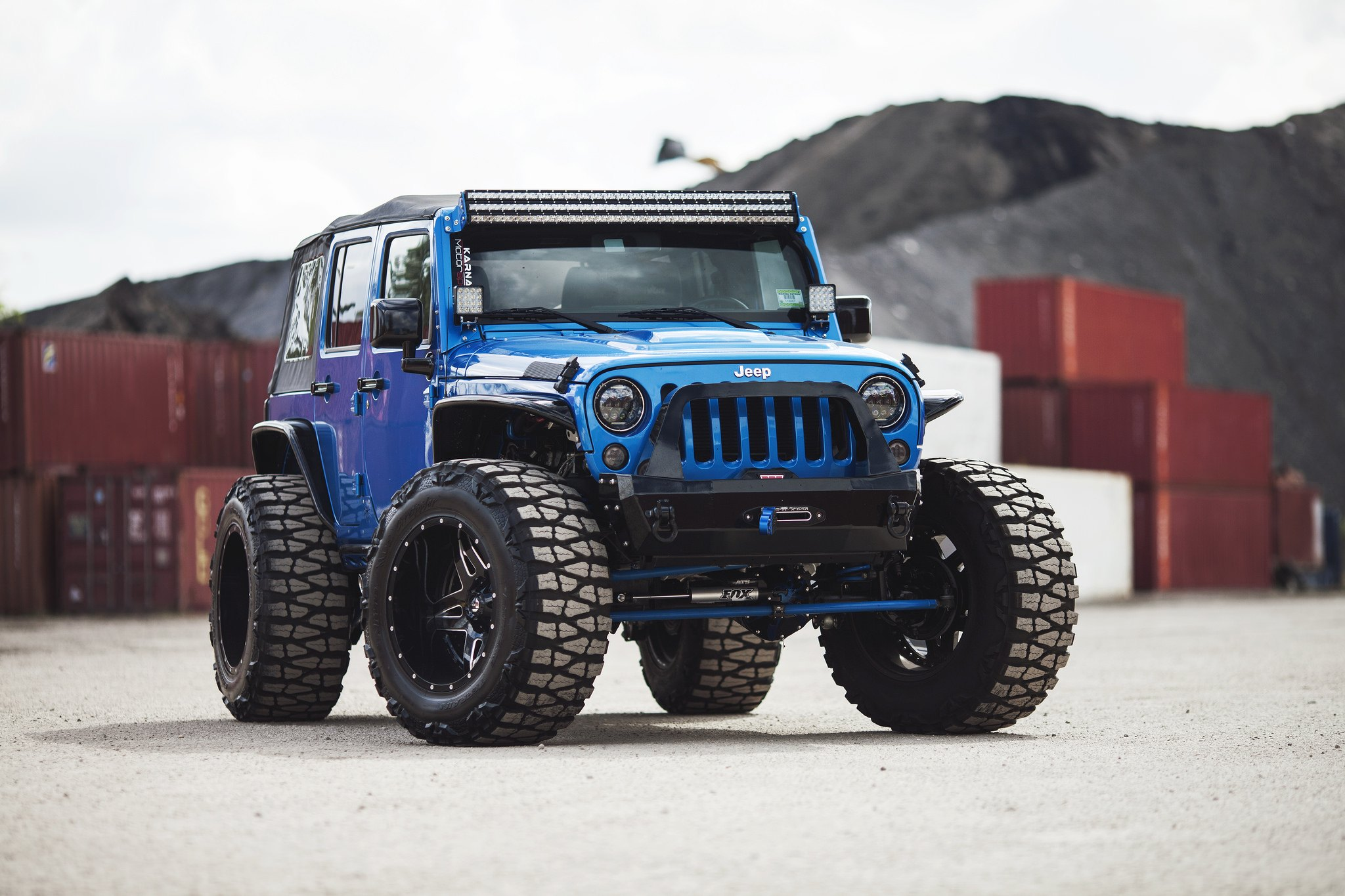 "JK Rolling on 40"" Nitto Mud Grappler Off-road Tires ..."