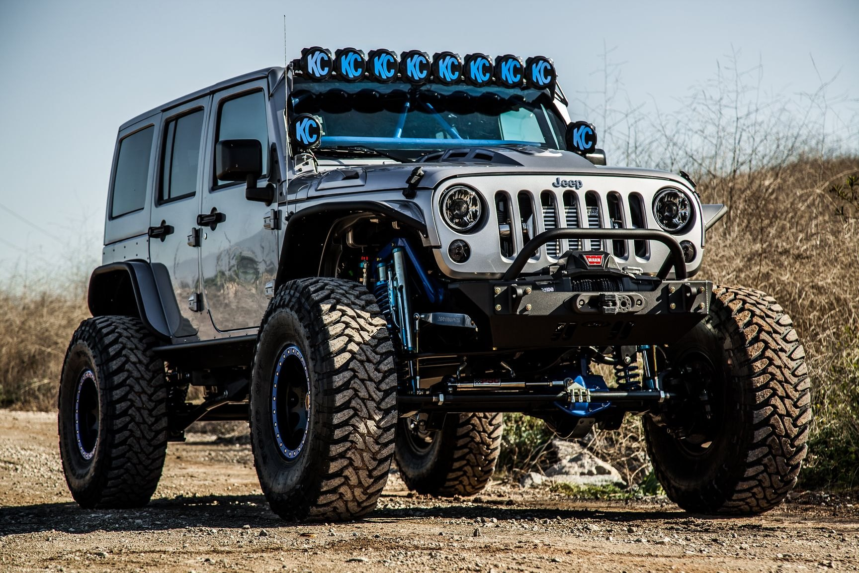 Lifted Jeep Wrangler >> Kchilites Off Road Lights Looking Amazing On Gray Lifted Jeep