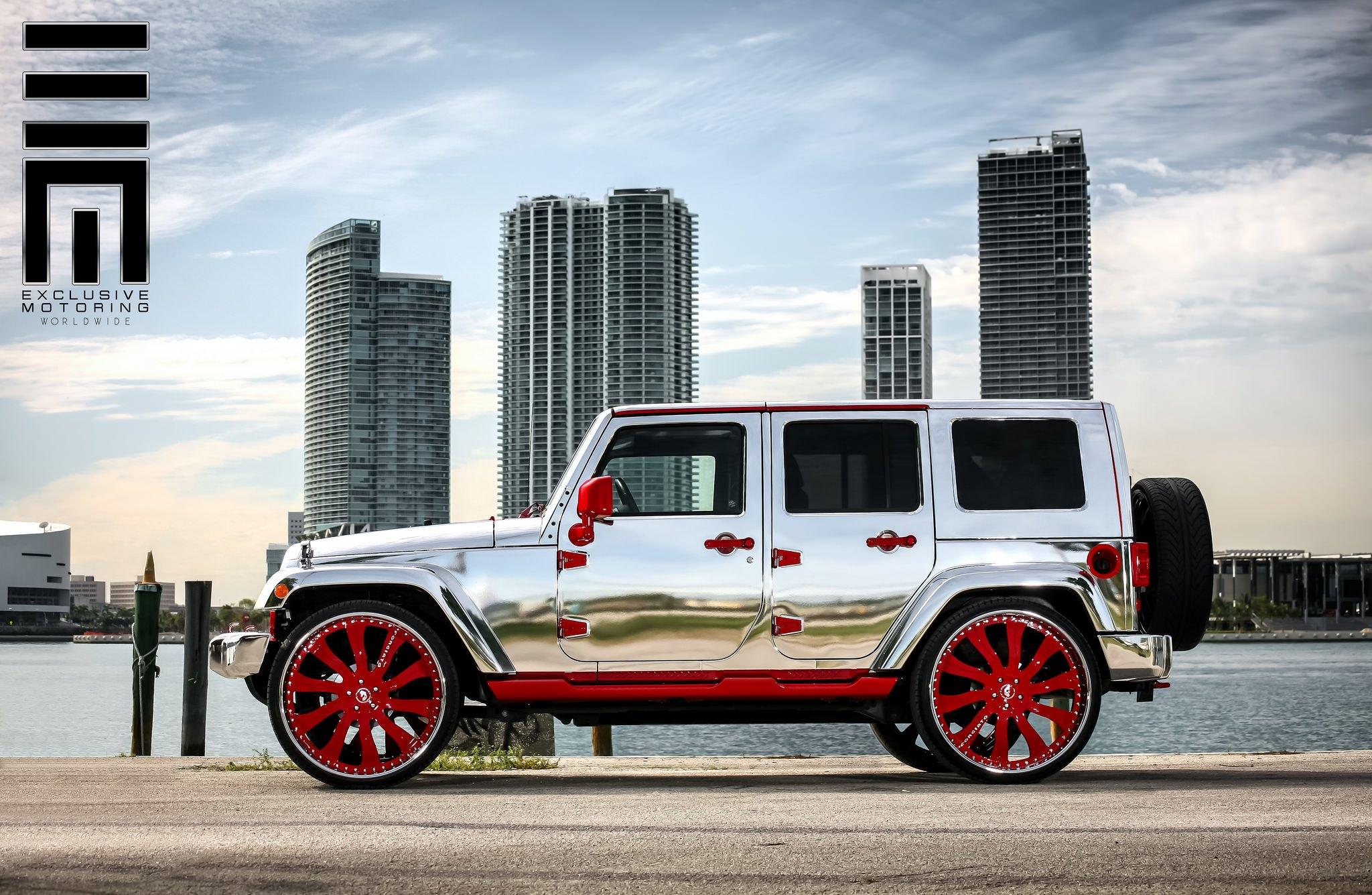 Jeep Jk Tires >> Attention Grabber Jeep JK With a Chrome Vinyl Wrap — CARiD.com Gallery