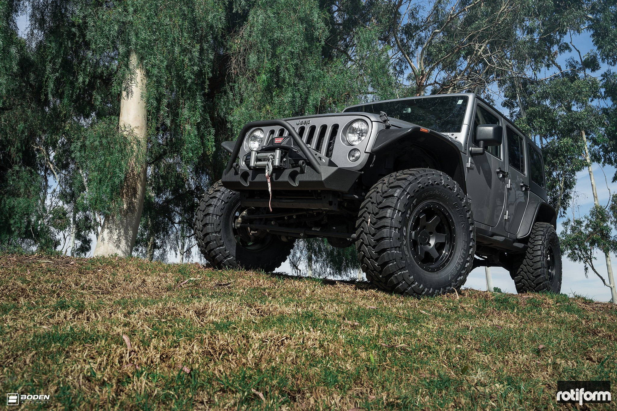 jeep wrangler jk unlimited on rotiform six off road wheels gallery. Black Bedroom Furniture Sets. Home Design Ideas