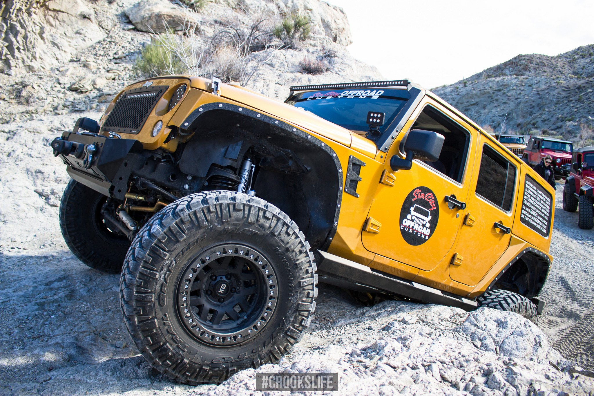 Custom Yellow Jeep Wrangler on Nitto Tires - Photo by Jimmy Crook