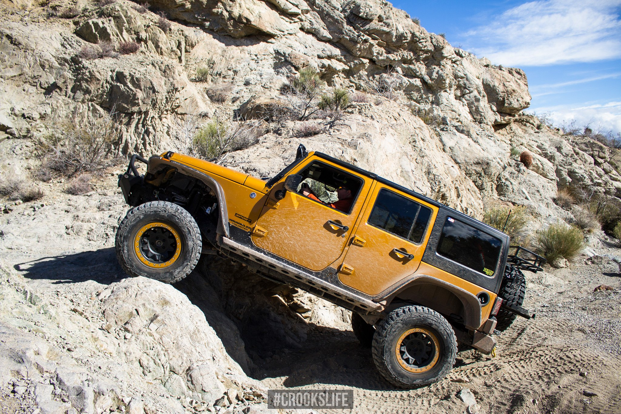 Yellow Jeep Wrangler with Aftermarket Fender Flares - Photo by Jimmy Crook