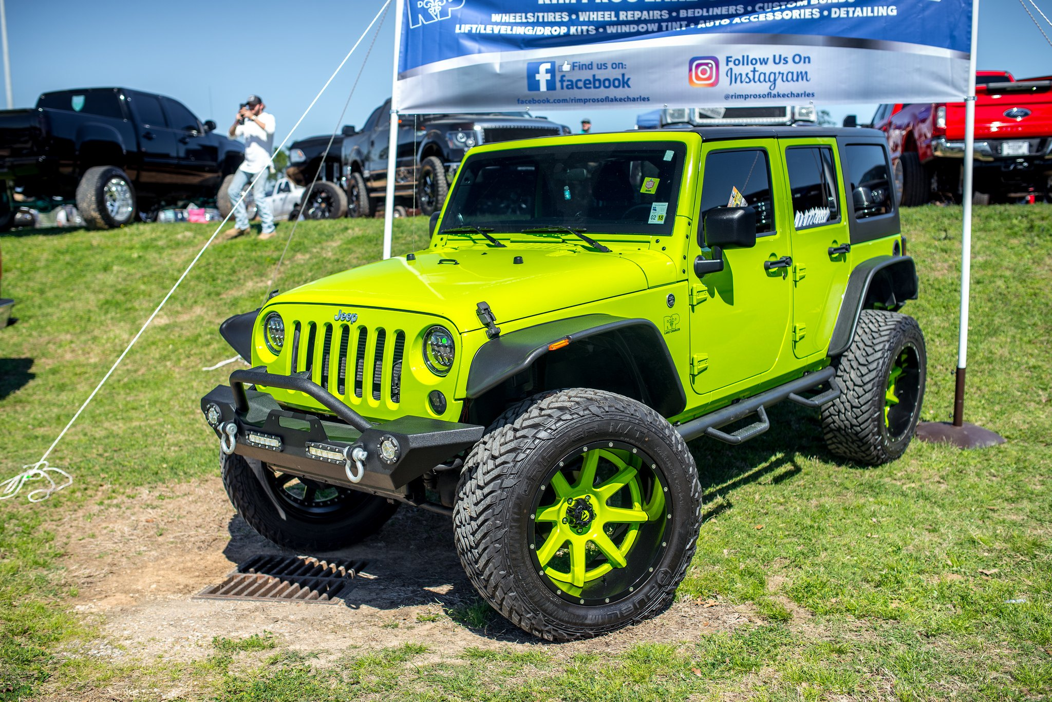 Amazing Custom Lime Green Jeep Wrangler With Wide Fender Flares   Photo By Fuel  Offroad