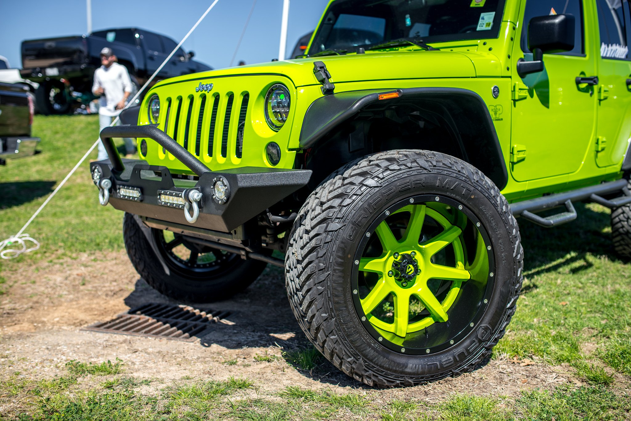 completely reworked neon green jeep wrangler unlimited by fuel off road gallery. Black Bedroom Furniture Sets. Home Design Ideas