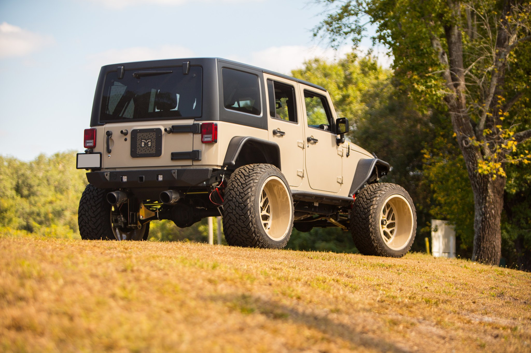 mean looking jeep wrangler unlimited with off road mods and fuel wheels gallery. Black Bedroom Furniture Sets. Home Design Ideas