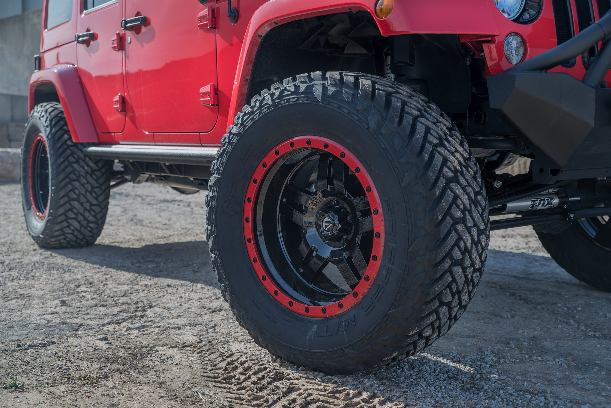 Red rock mind boggling jeep wrangler on fuel beadlock wheels fuel offroad gripper tires on red jeep wrangler photo by fuel offroad sciox Image collections