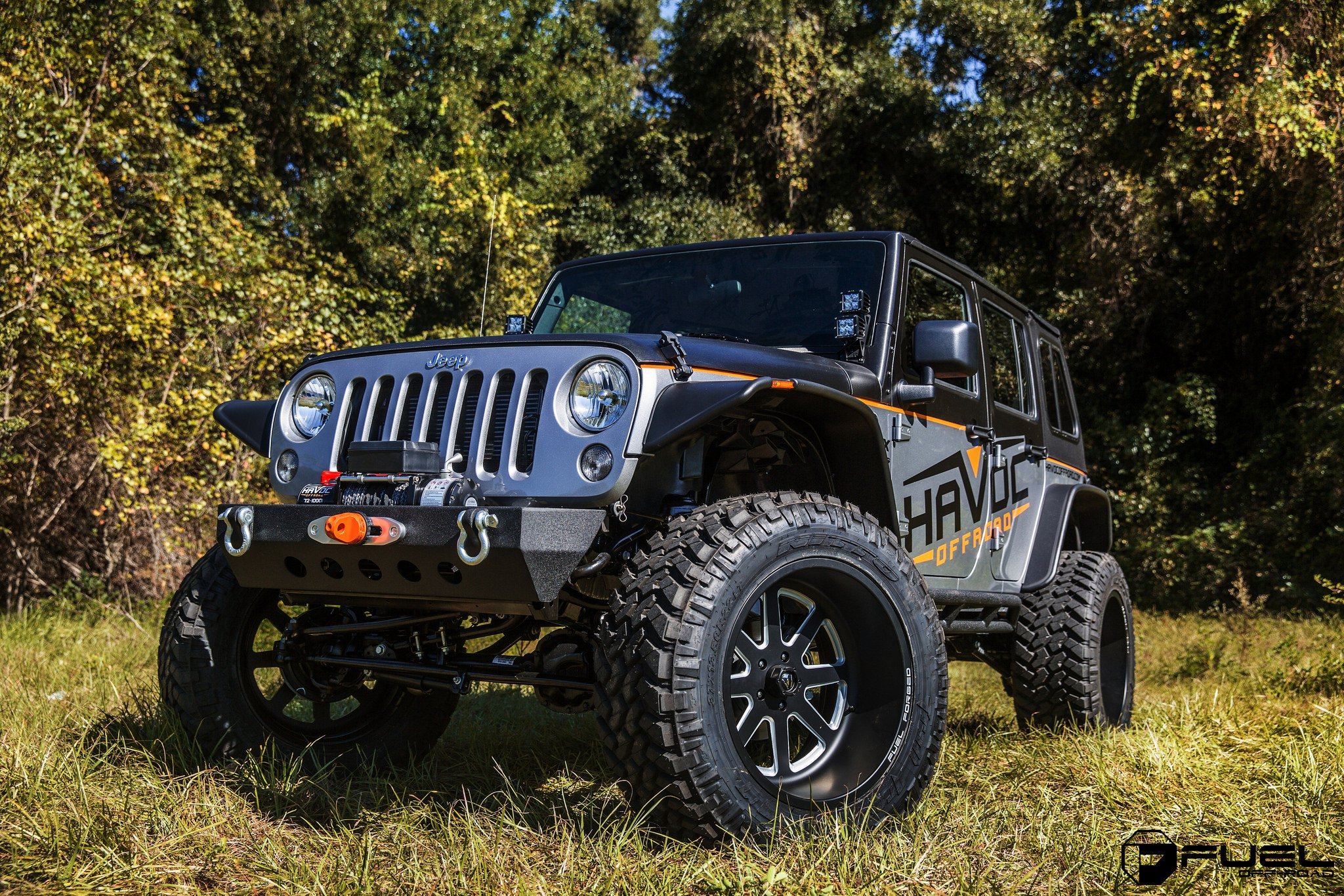 Jku Rocking Deep Dish 22 Inch Fuel Off Road Rims Wrapped With 37 Tires Carid Com Gallery